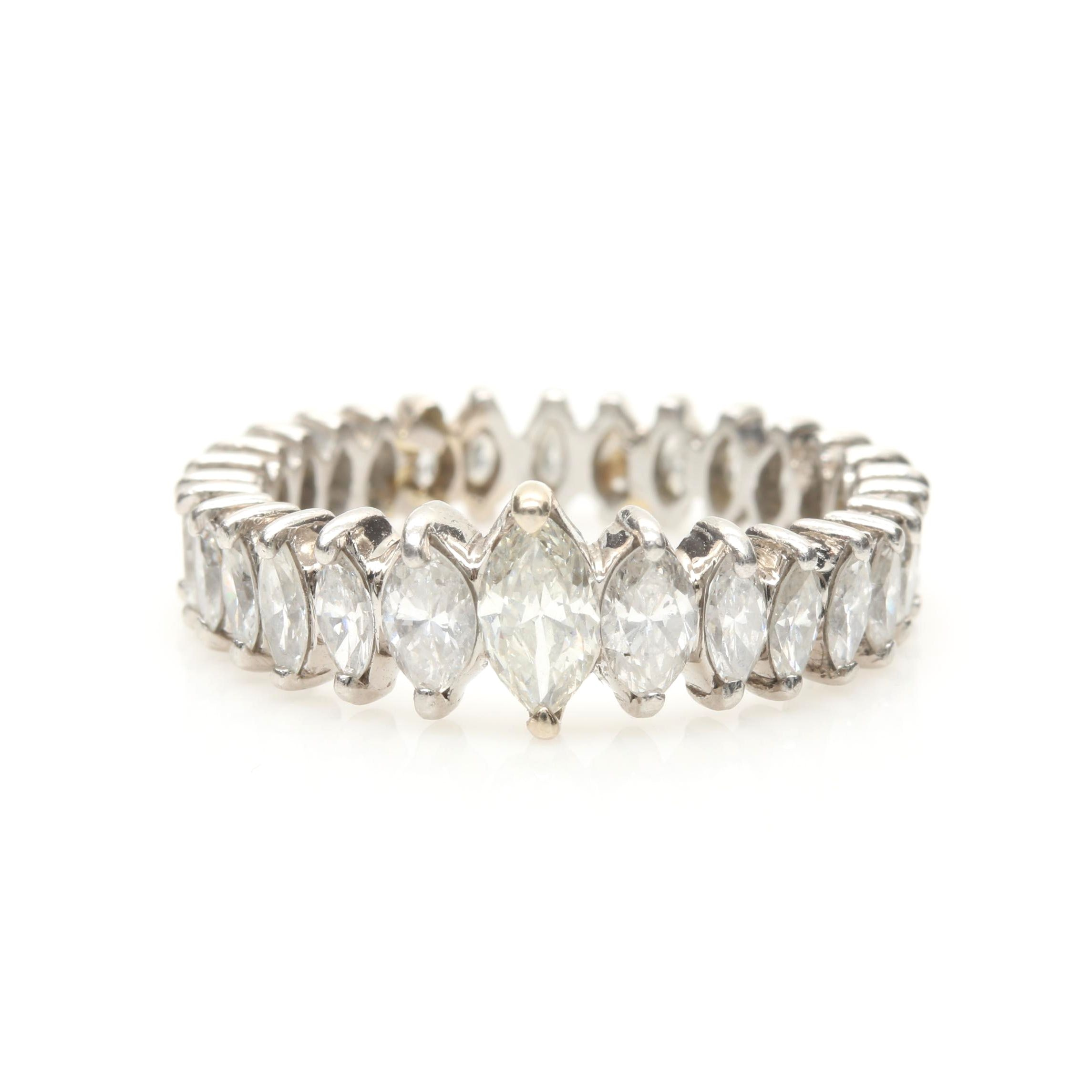 Platinum 3.28 CTW Diamond Ring