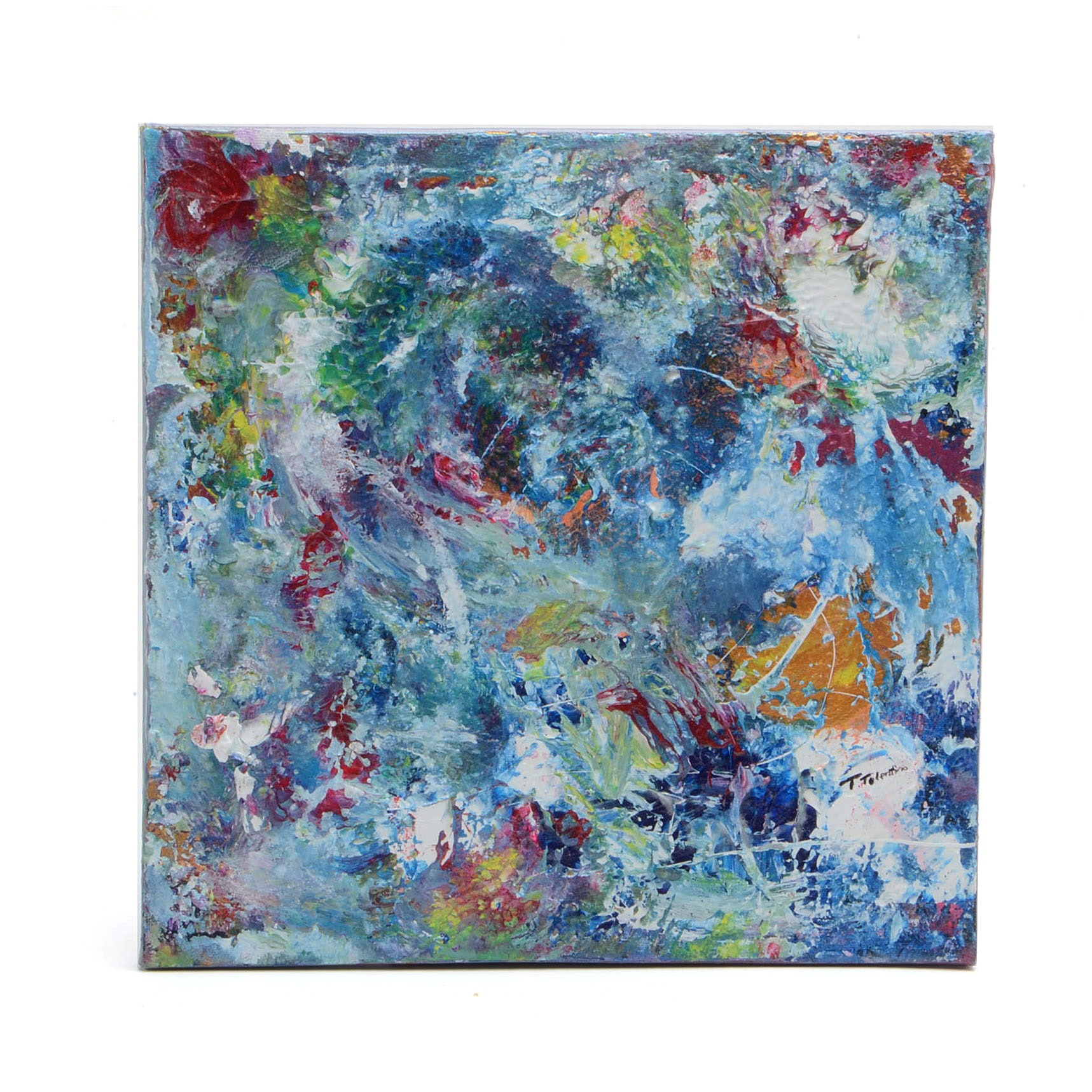 Teresa Hull Tolentino Abstract Acrylic Painting on Canvas