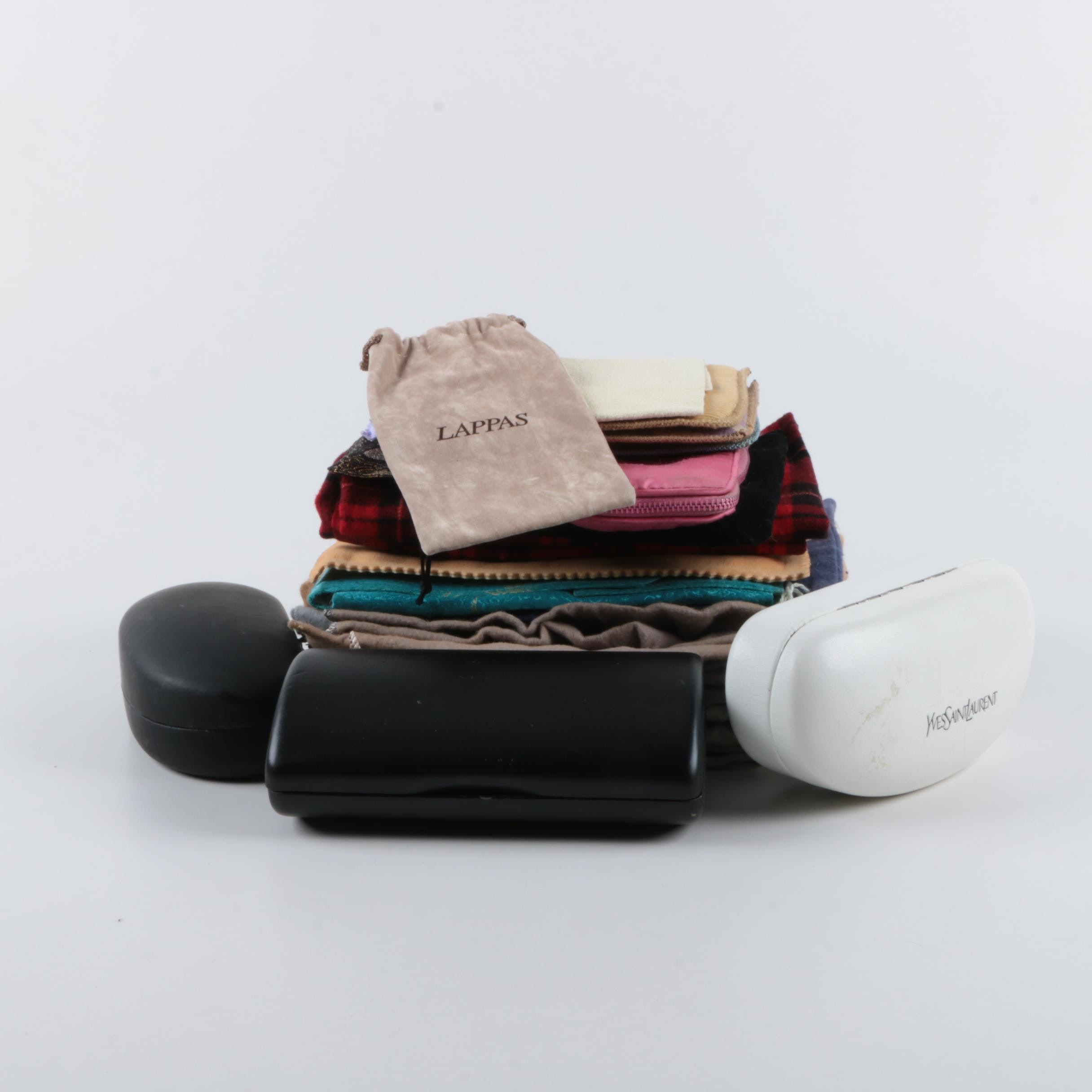 Glasses Cases, Dust Bags and Pouches Including Yves Saint Laurnet and Cartier