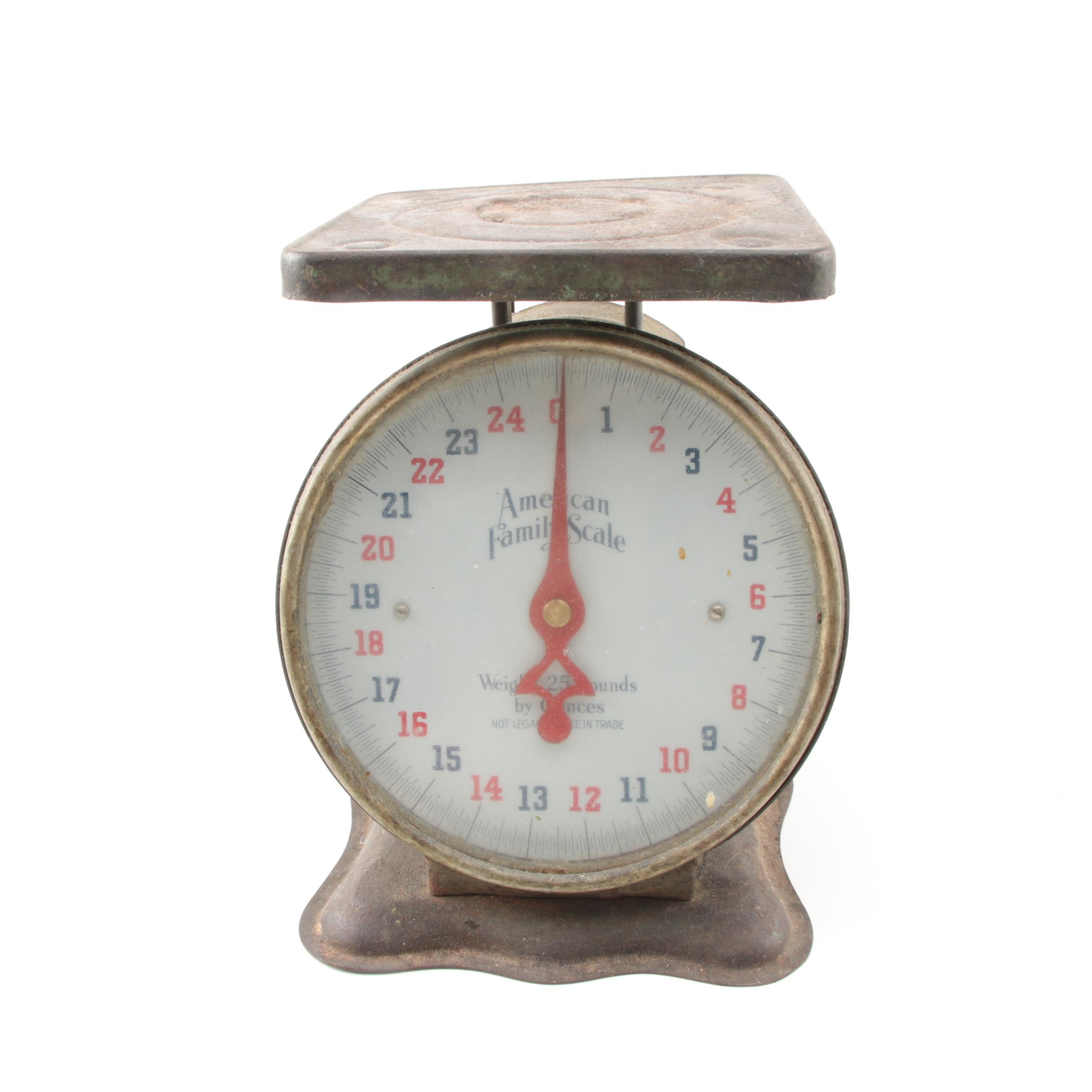 Vintage 'American Family Scale' Kitchen Scale