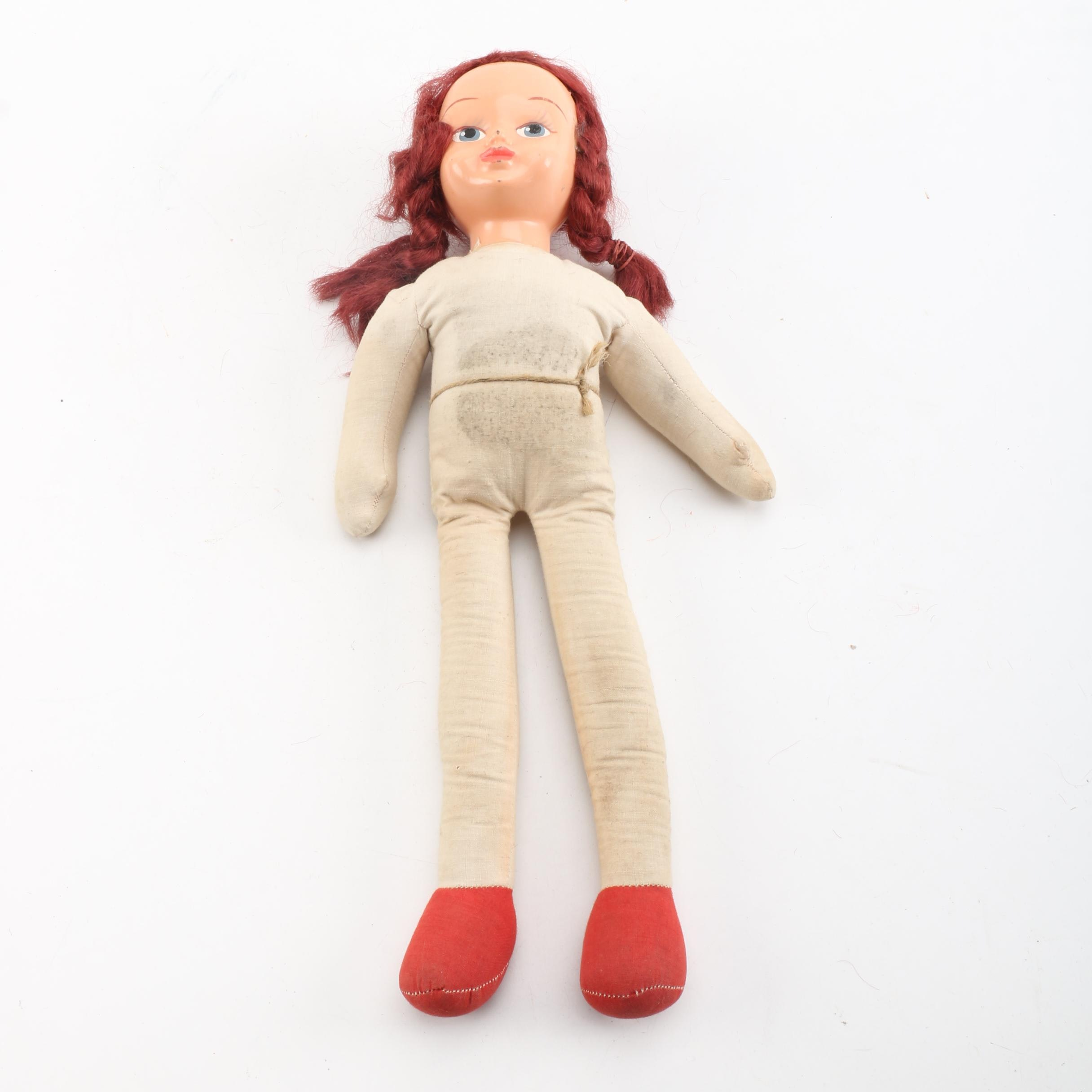 Vintage Polish Style Composition and Cloth Doll