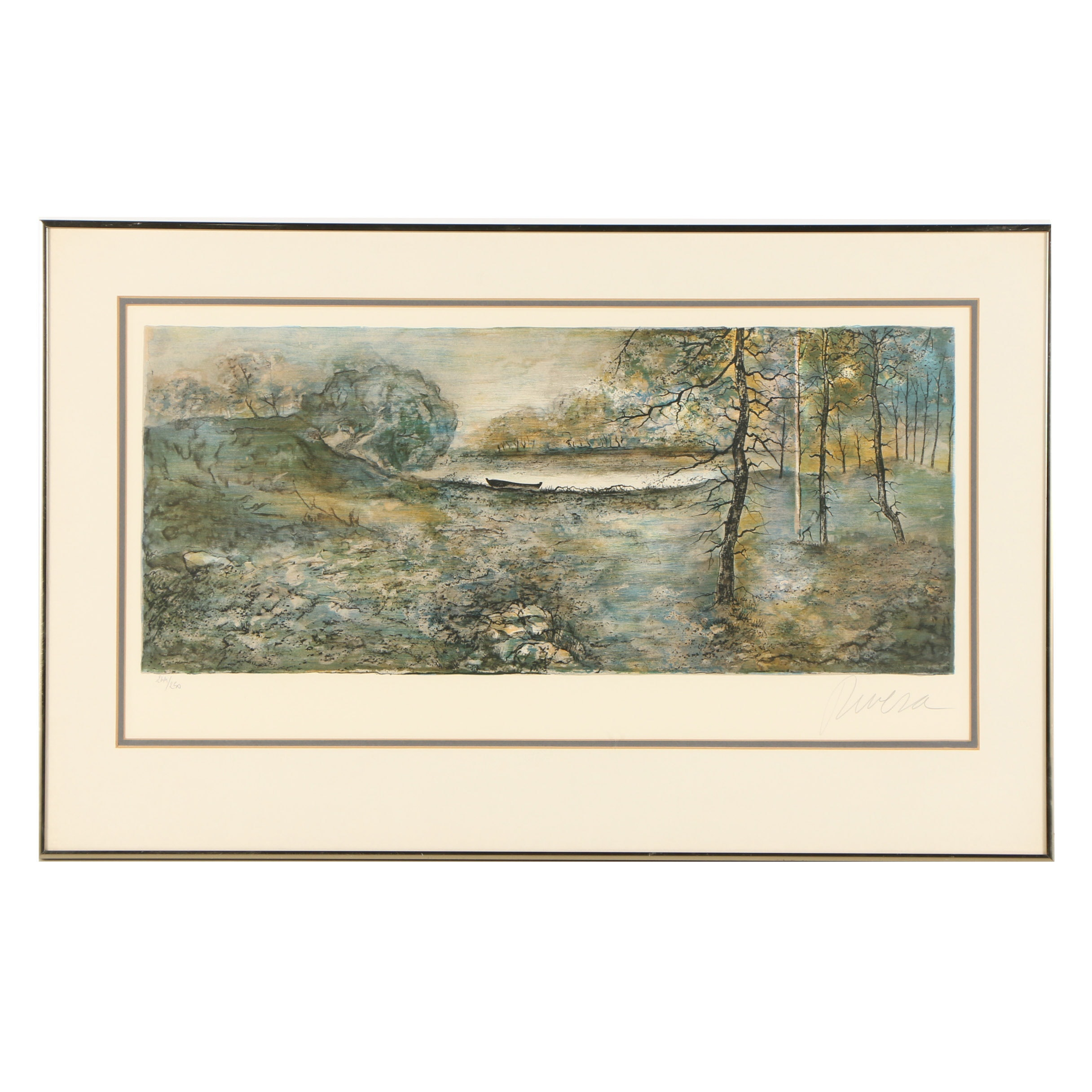 Rivera Limited Edition Lithograph of a Landscape