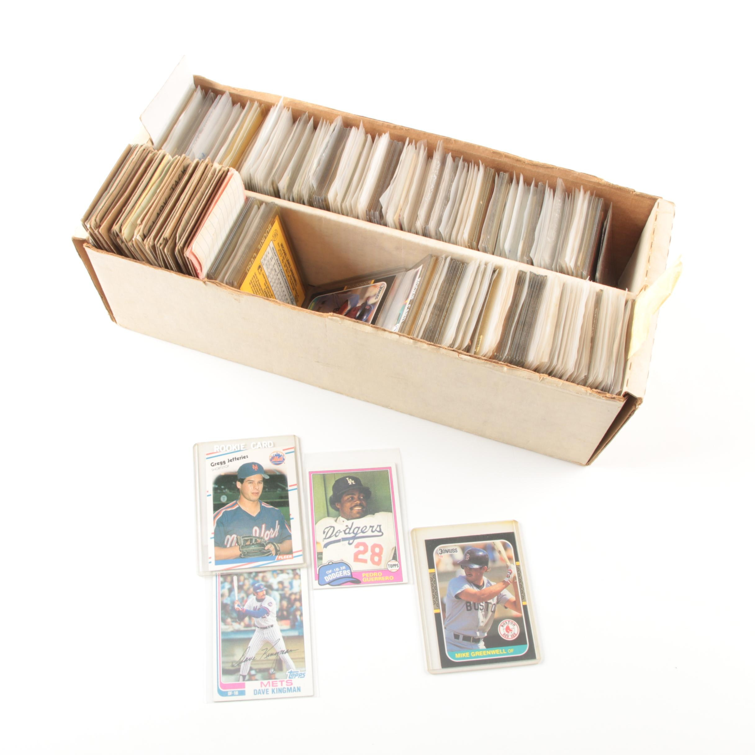 Collection of Sports Cards Including Gregg Jefferies Rookie Card
