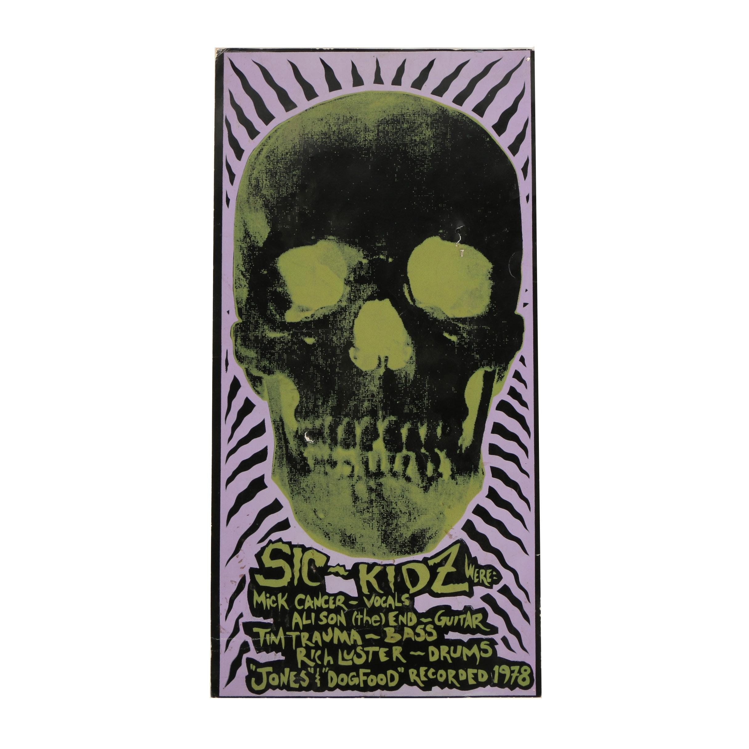Serigraph Poster For Sic-Kidz