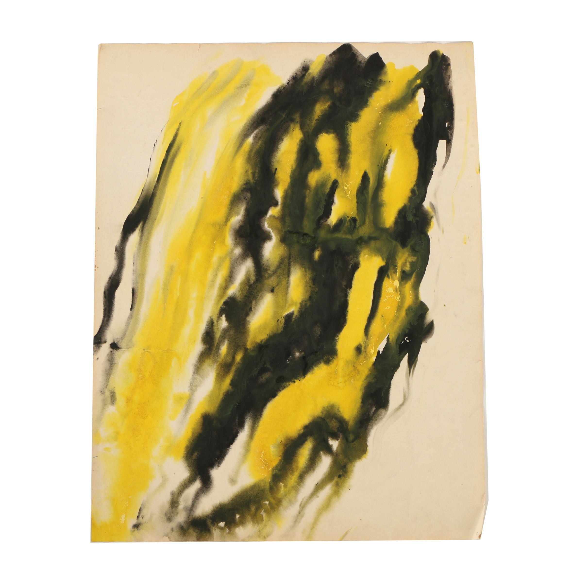 Abstract Watercolor Painting Attributed to Marco De Marco