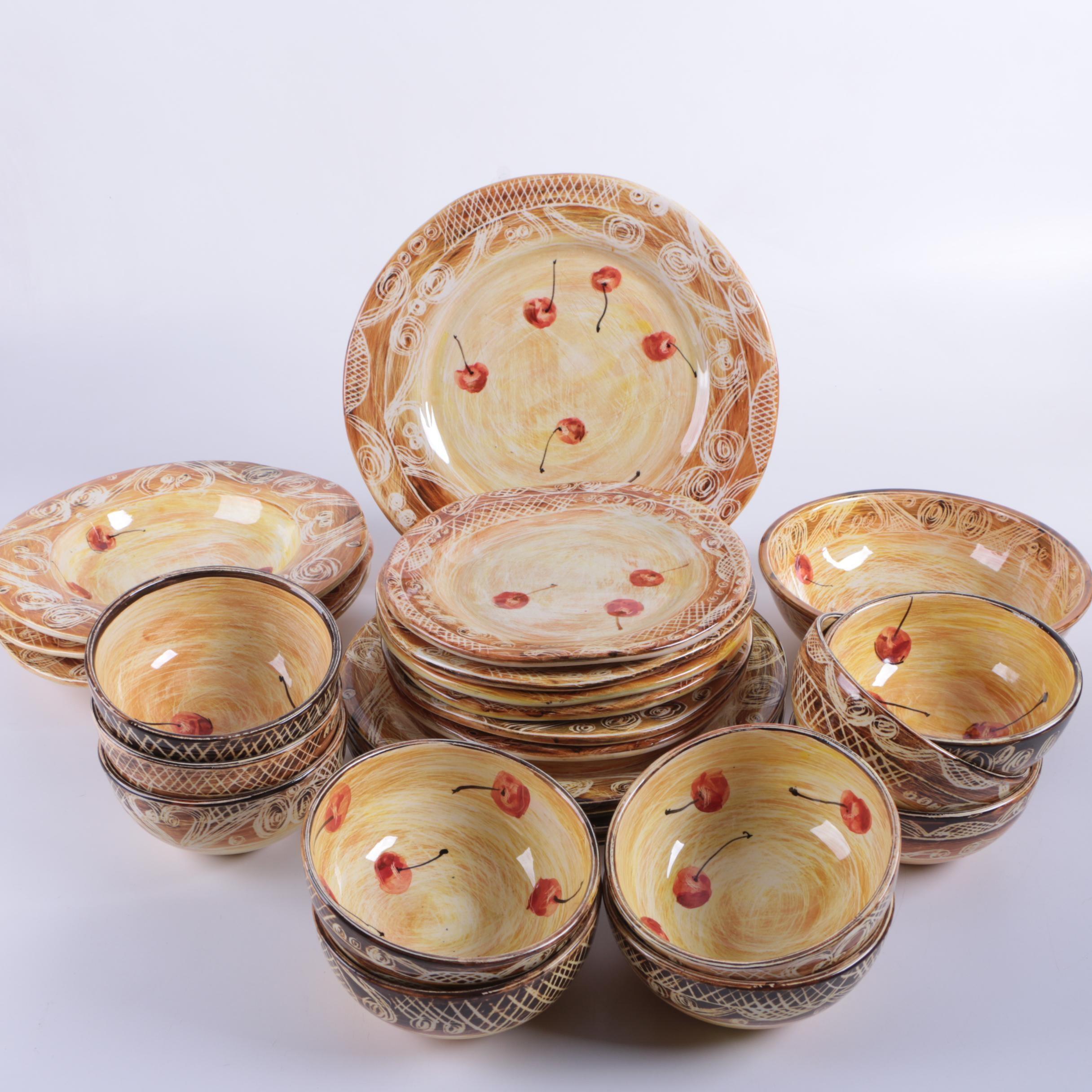 Sharon Thompson Art Pottery Dinnerware ... & Sharon Thompson Art Pottery Dinnerware : EBTH