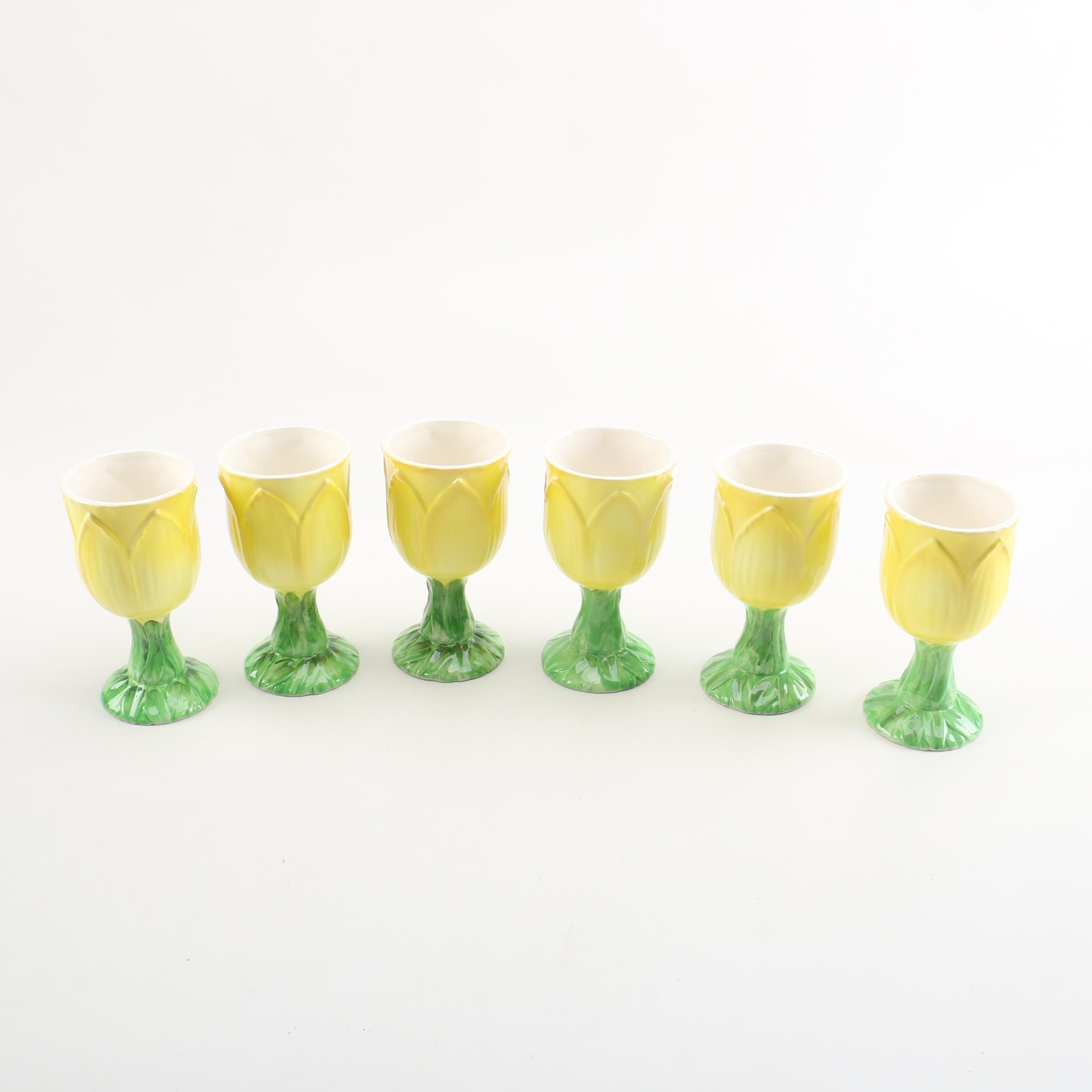 Collection of Vintage Ceramic Goblets