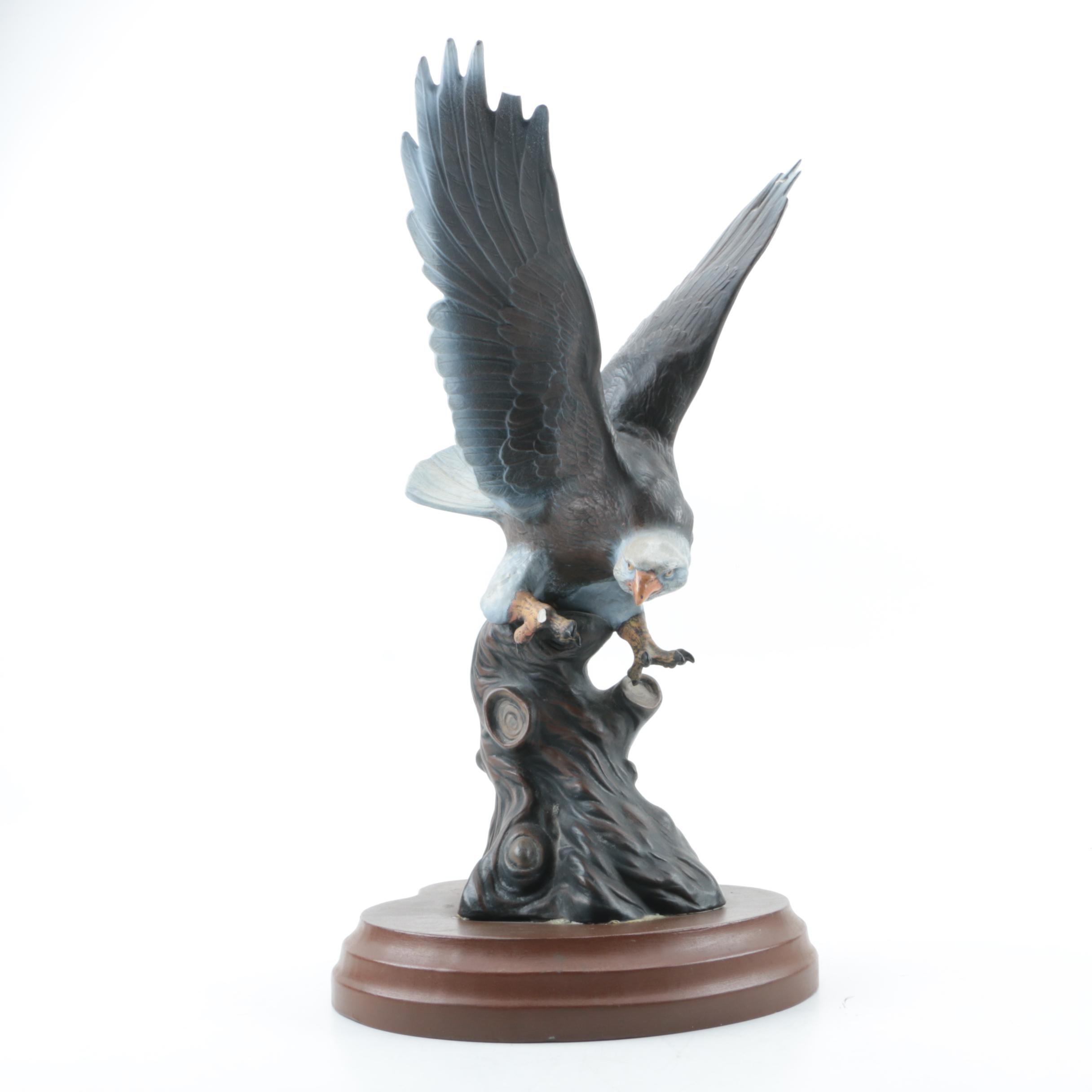 Bald Eagle Ceramic Statuette
