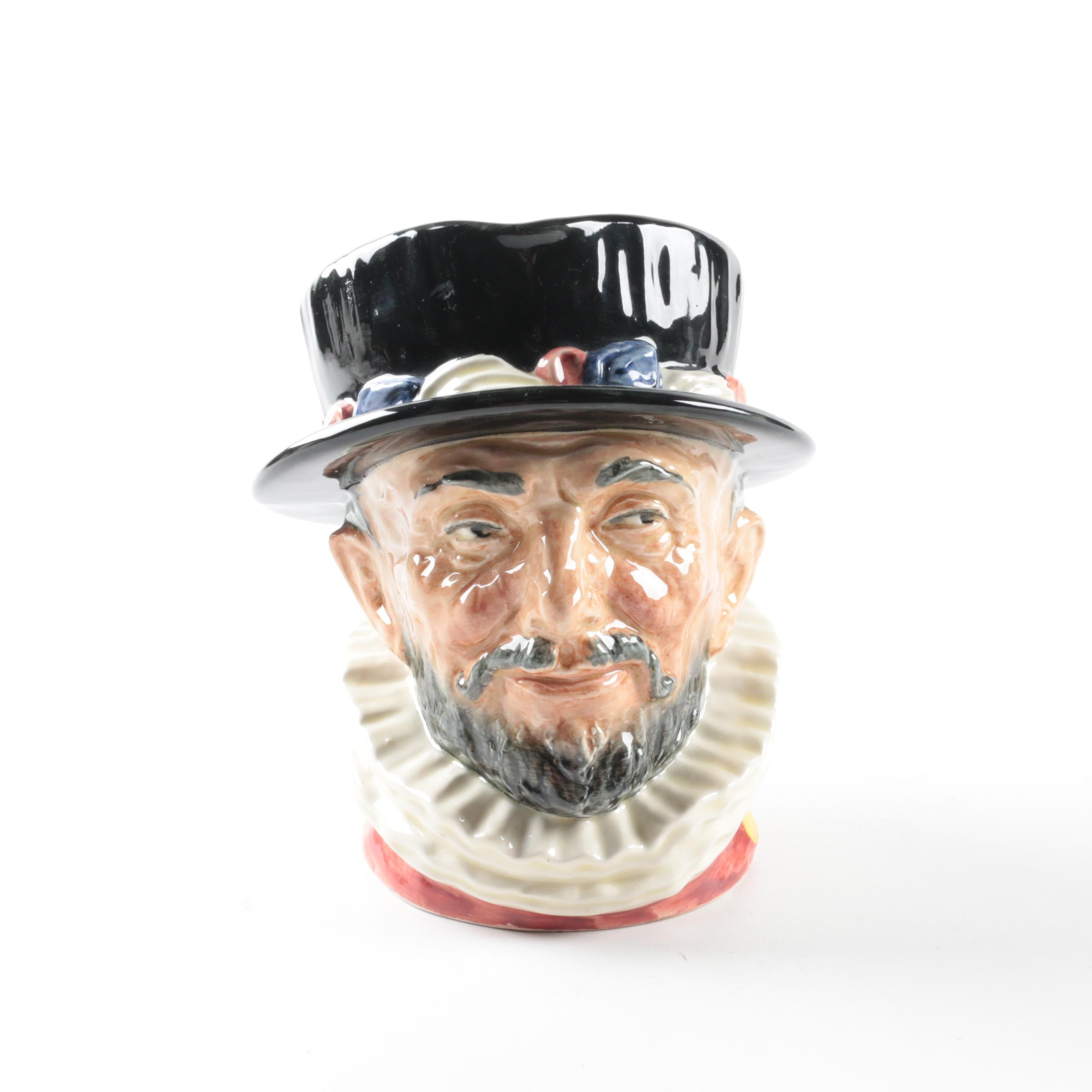"Vintage Royal Doulton ""Beefeater"" Character Jug Copyright 1946"