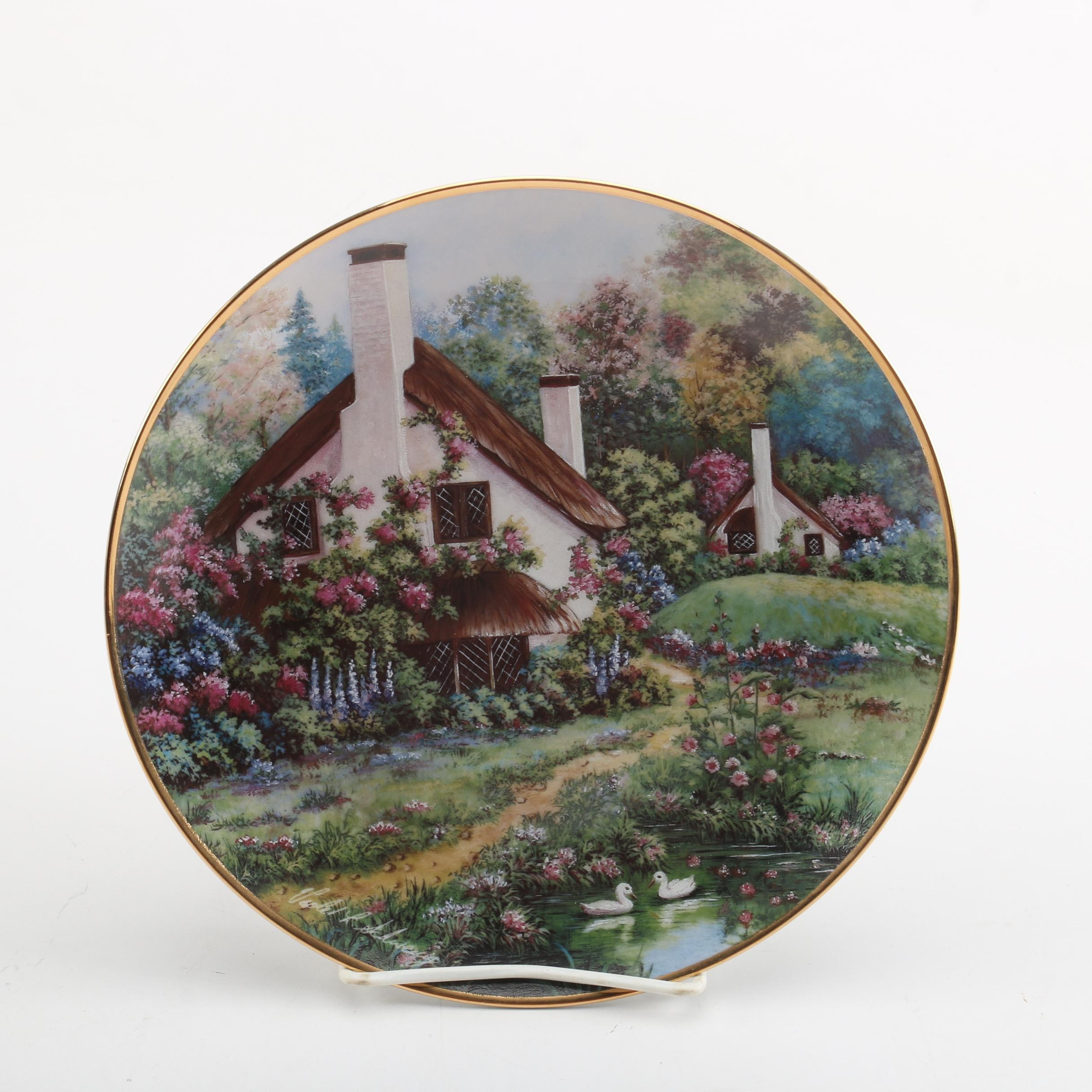 "Franklin Mint ""A Cozy Glen"" Collector Plate after Violet Schwenig"
