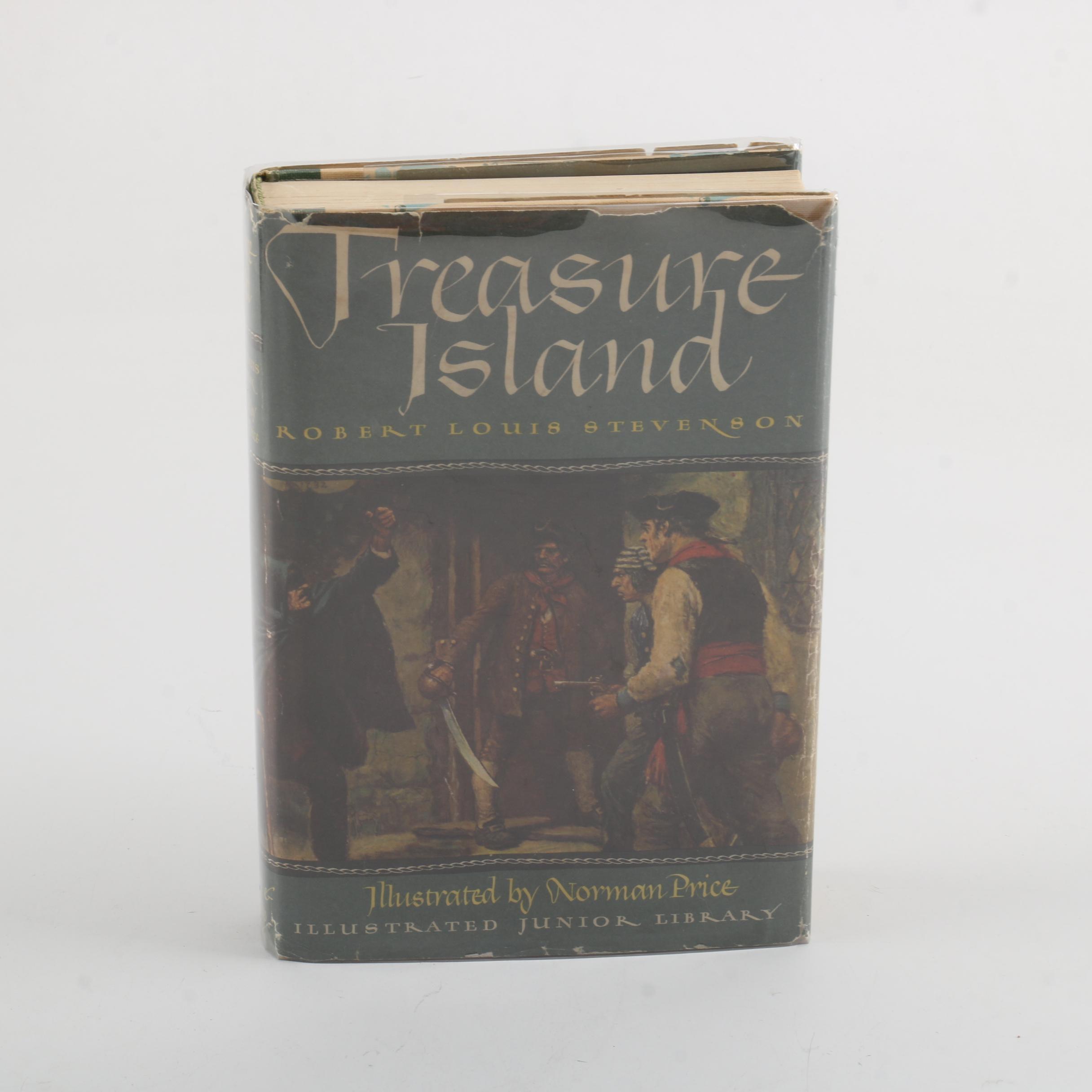 "1947 Illustrated Junior Library Edition of ""Treasure Island"" by Robert Stevenson"