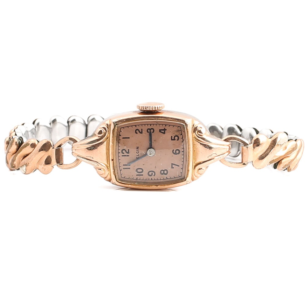 Elgin Gold Filled Wristwatch with a Rose Gold Wash