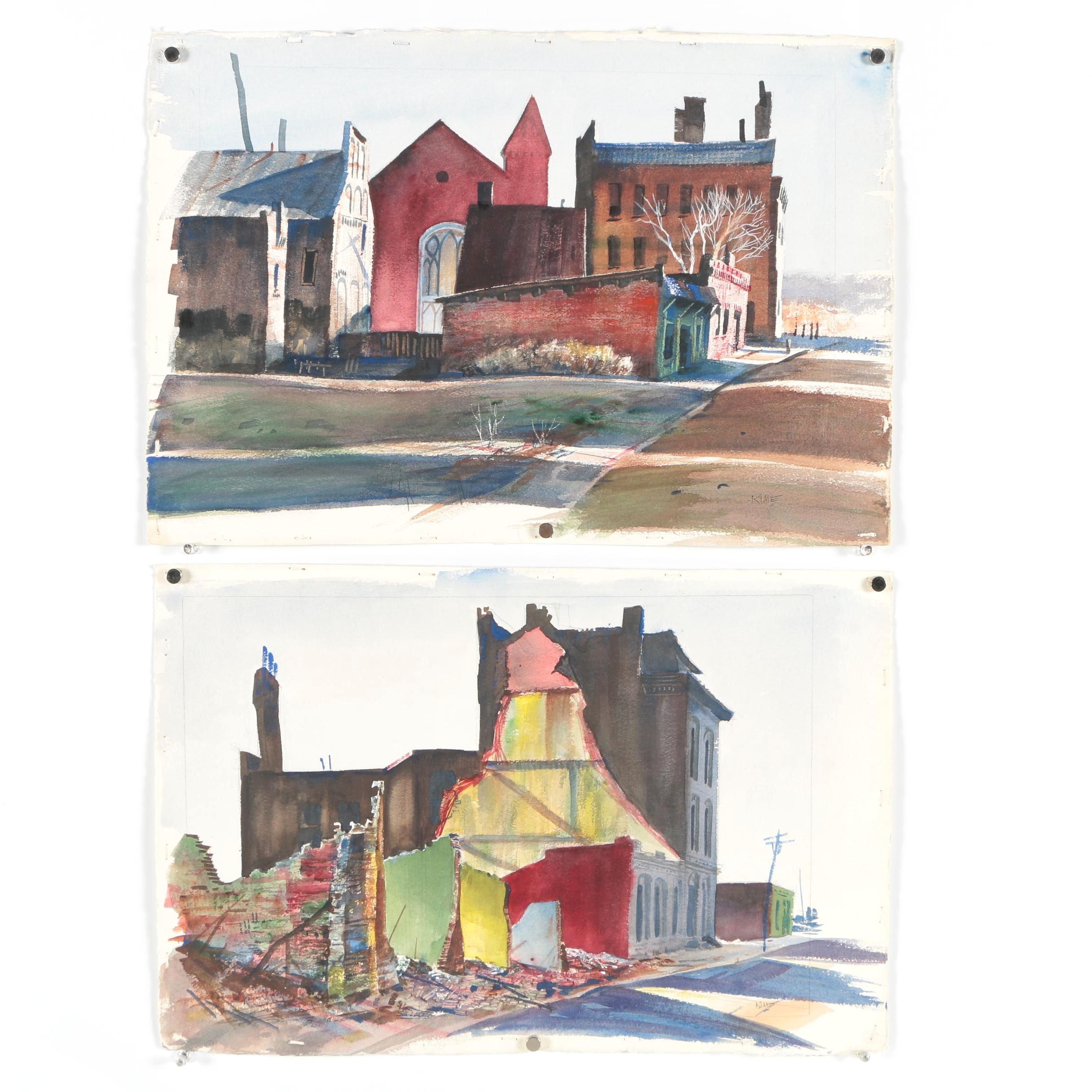 Wesley Kime Watercolor Paintings