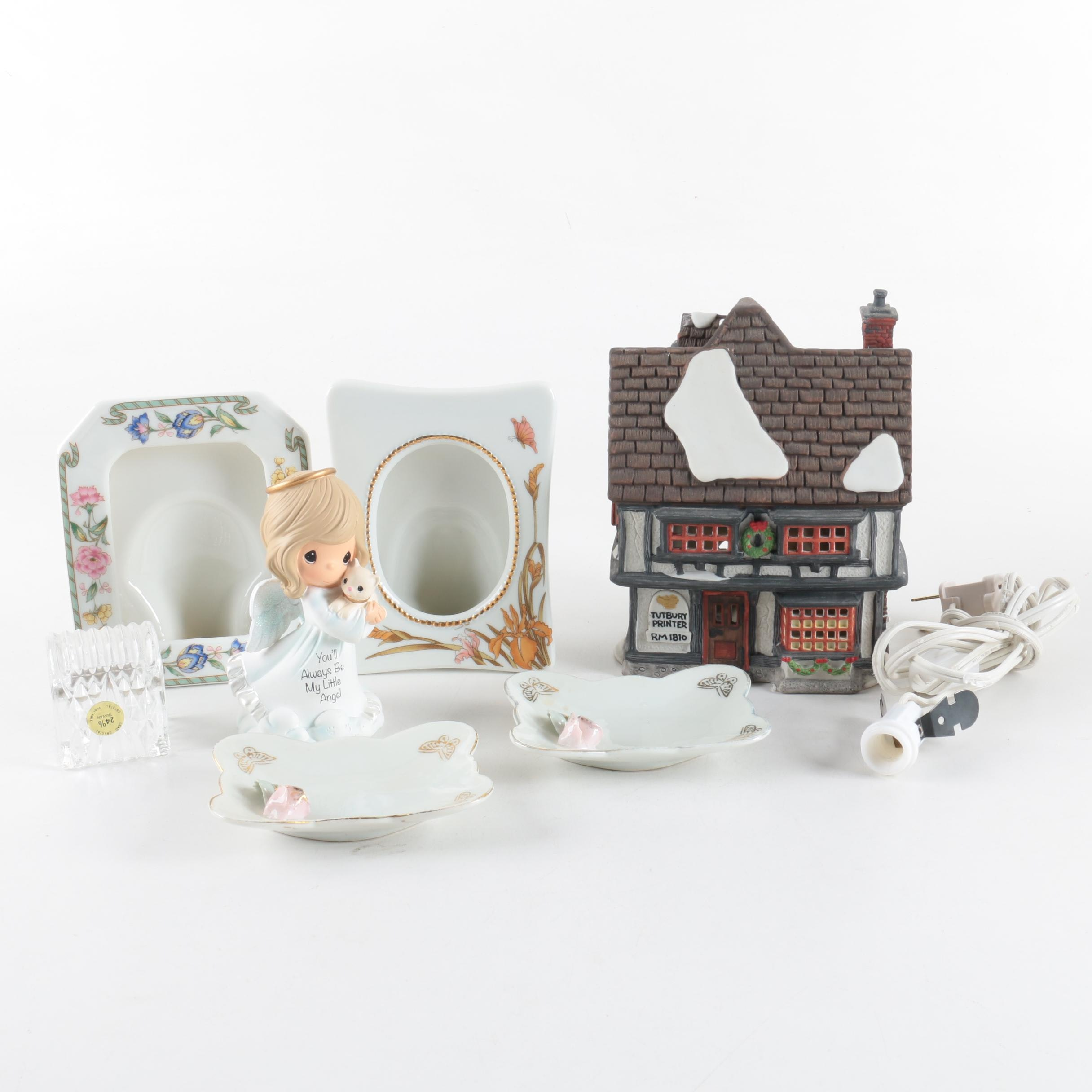 Dept. 56, Precious Moments, Leaded Crystal, and Porcelain Items