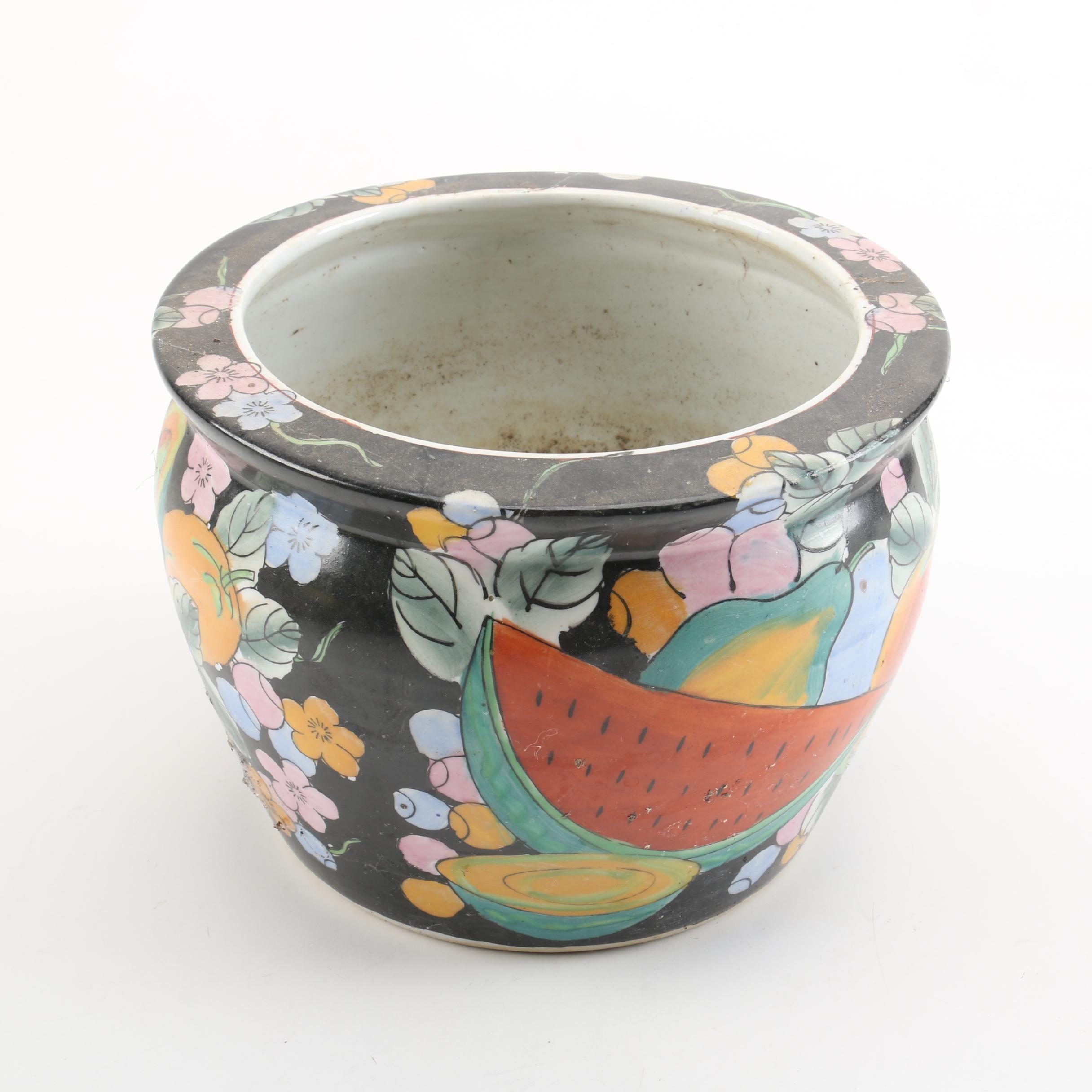 Decorative Fruit Motif Flower Pot