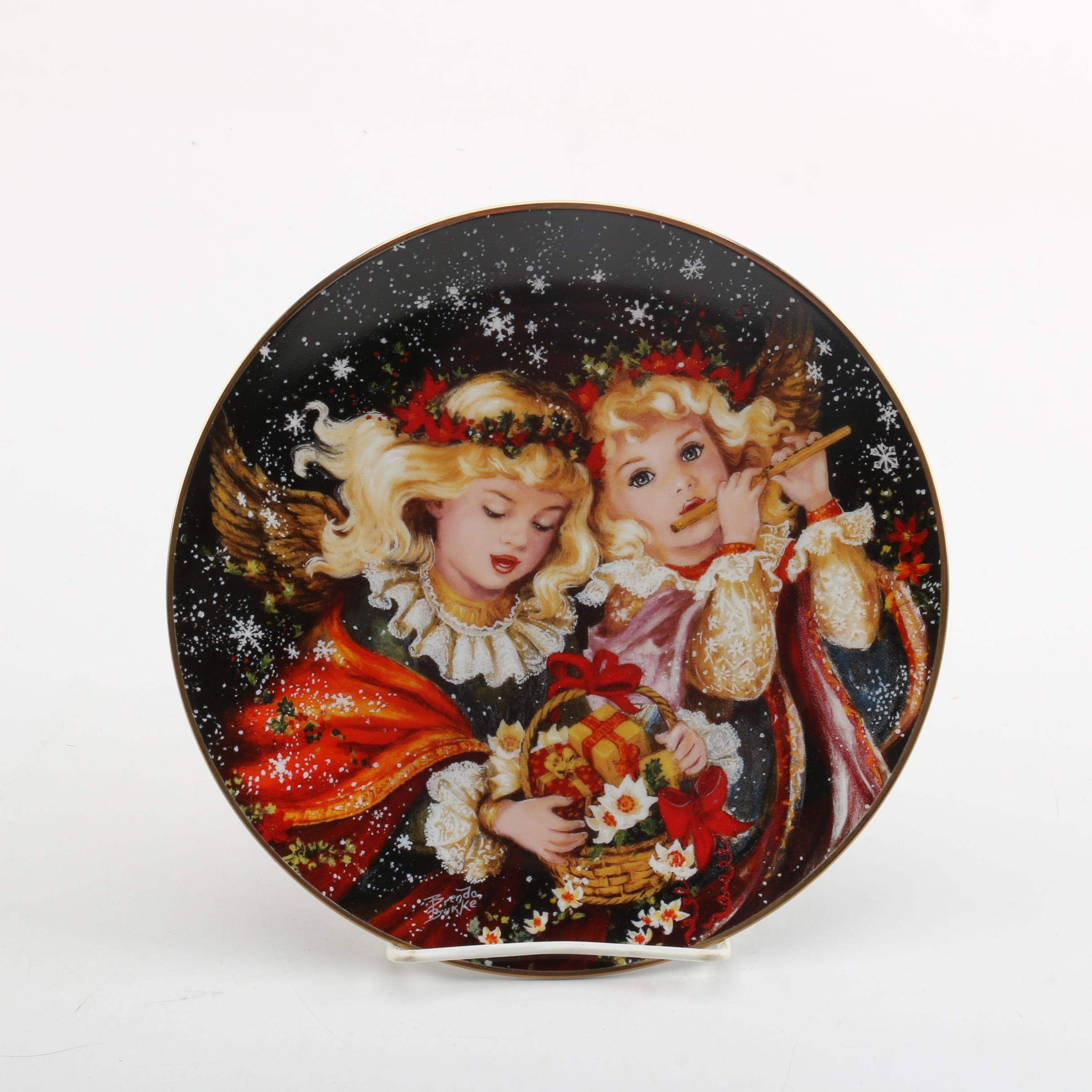 "Brenda Burke ""Angels We Have Heard on High"" Decorative Porcelain Plate"