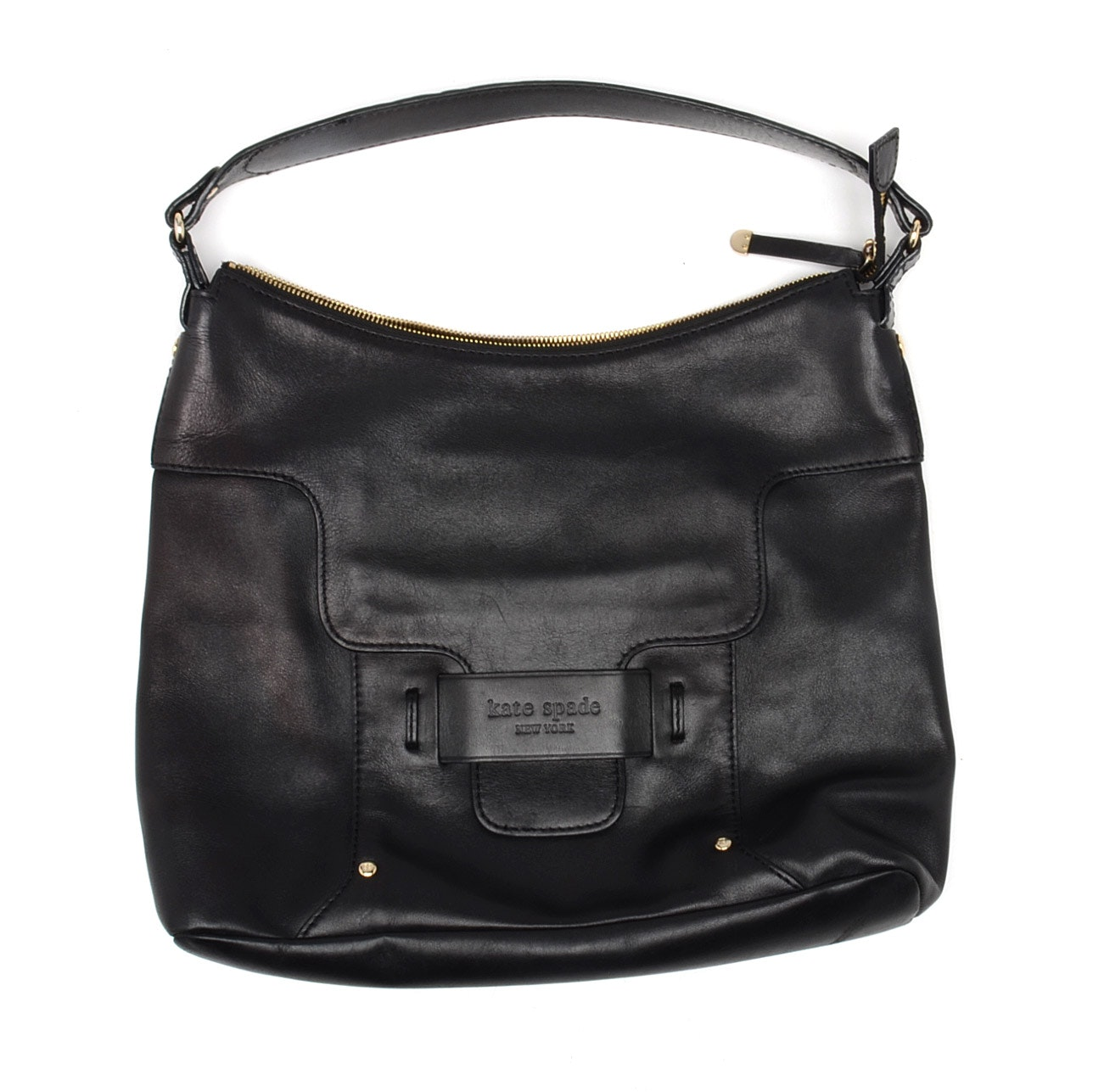 Kate Spade Savona Paige Black Leather Handbag