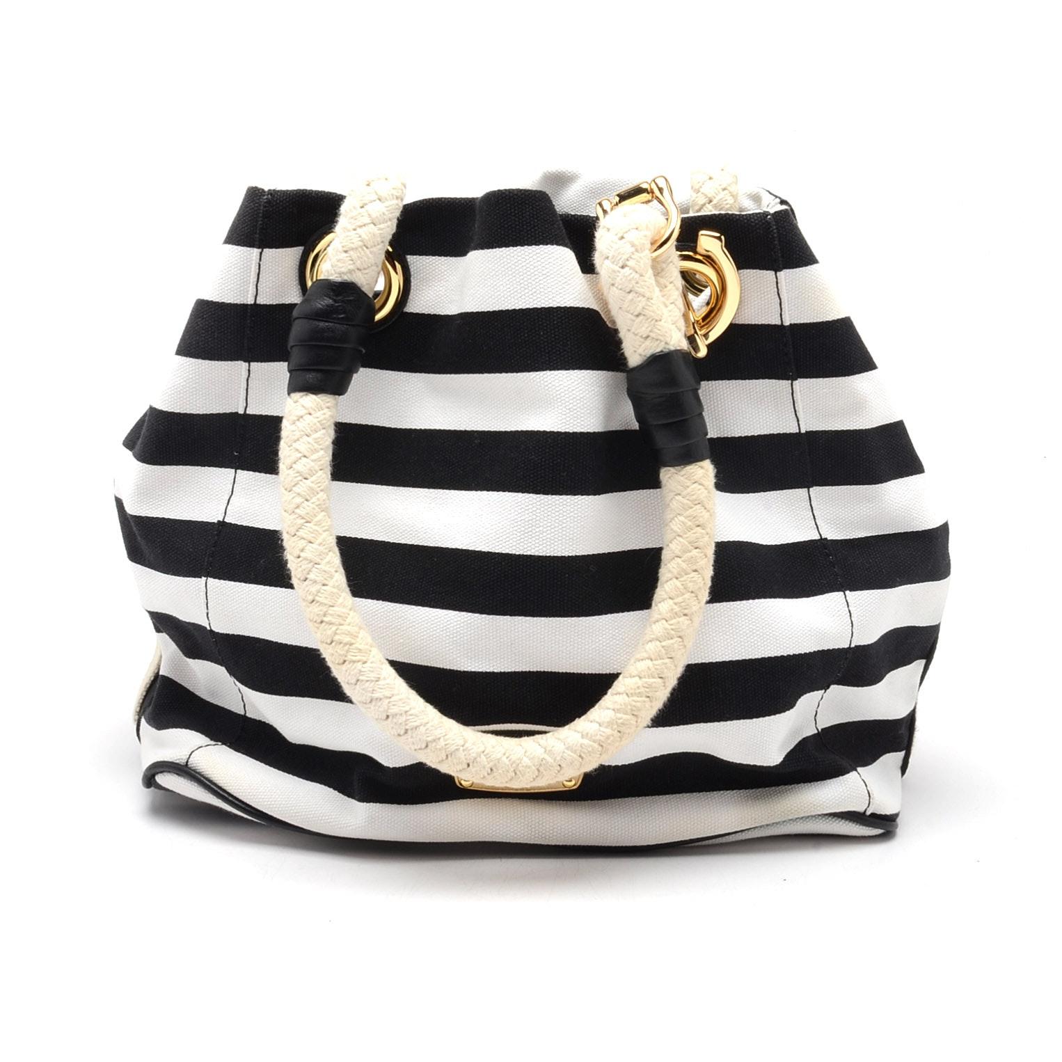 MICHAEL Michael Kors Striped Canvas Handbag