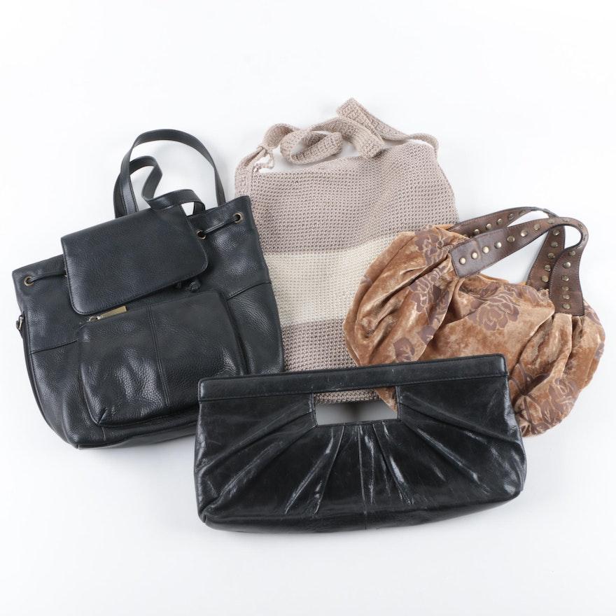 Leather And Fabric Handbags Including Alfani Liz Claiborne