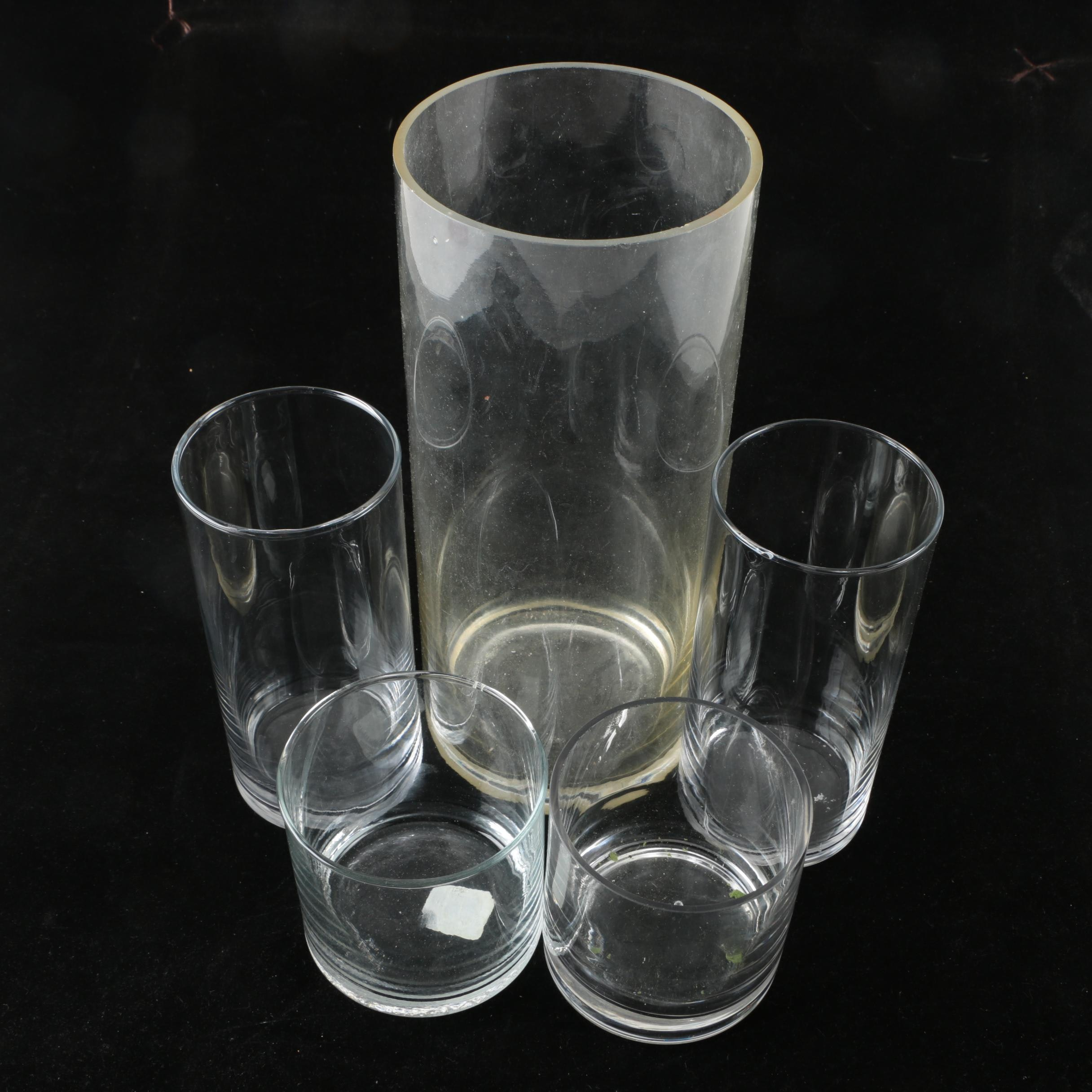 Drinking Glasses and Vase