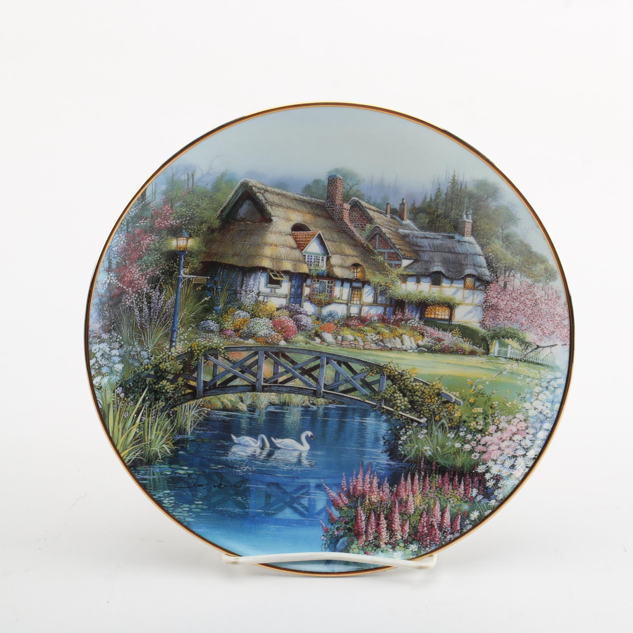 """Andres Orpinas """"The Cottage on Cherrytree Lane"""" Collector's Plate"""