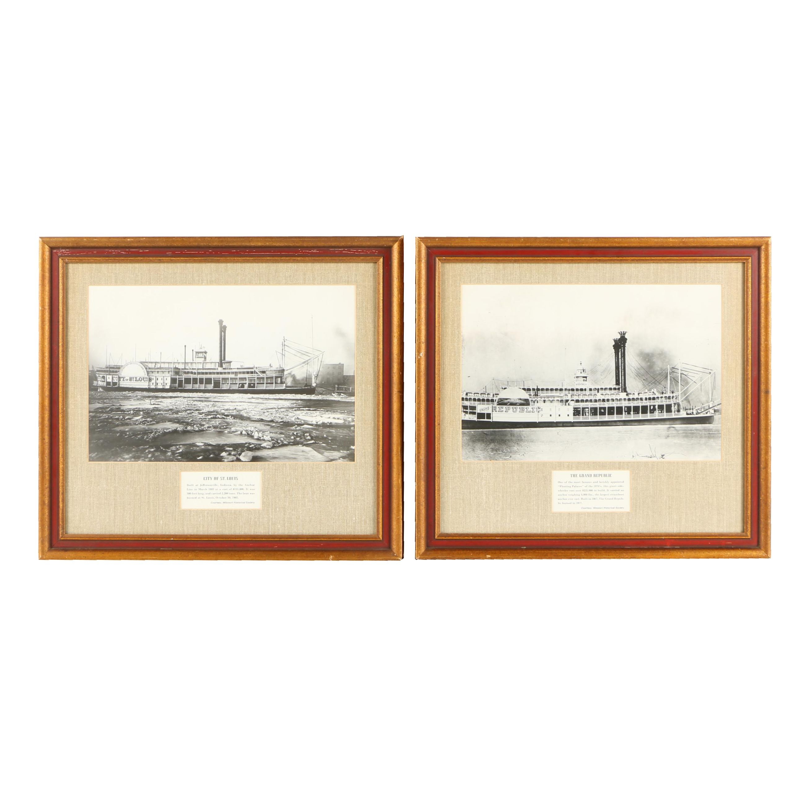 Gelatin Silver Photographs of Ships