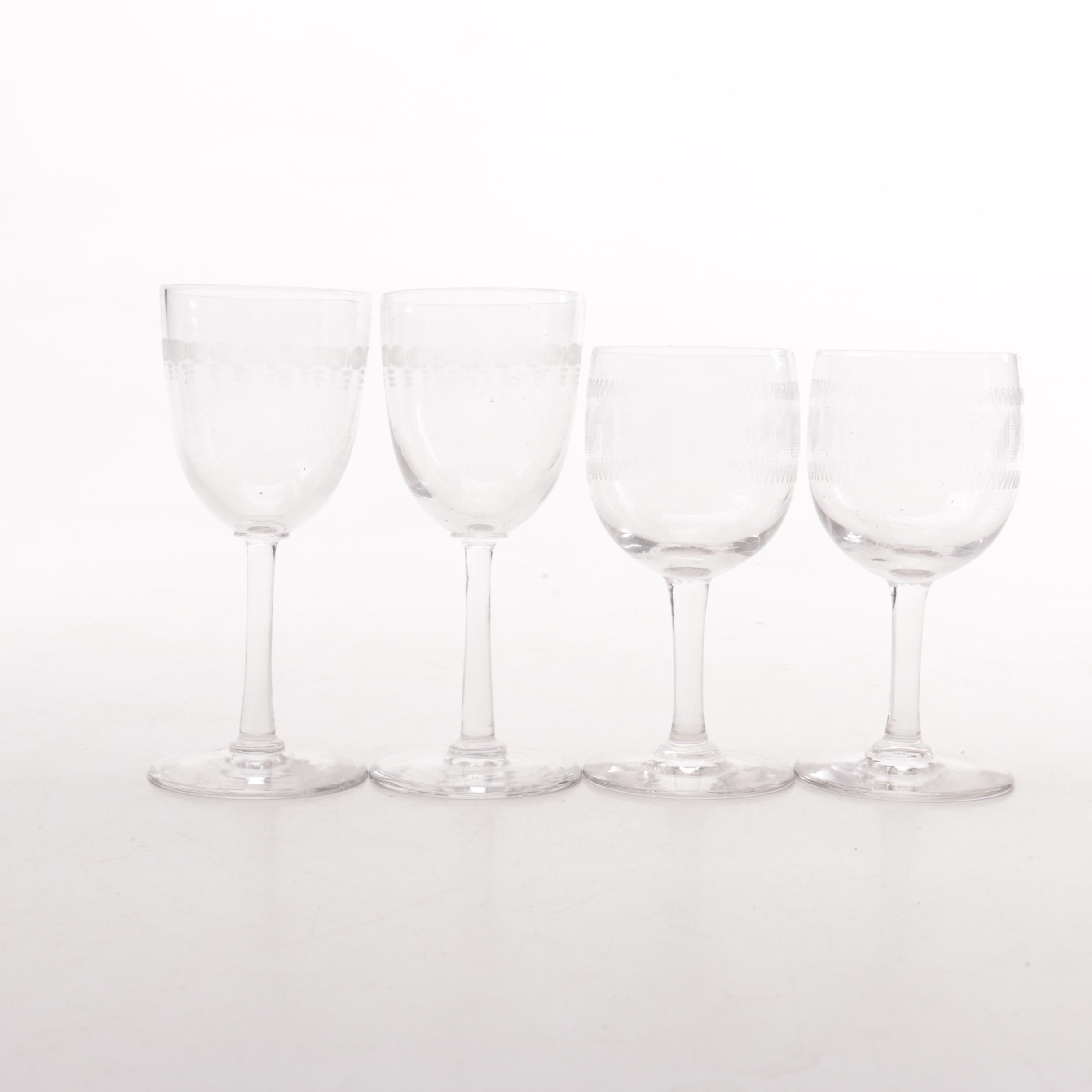 Four Cordial Glasses