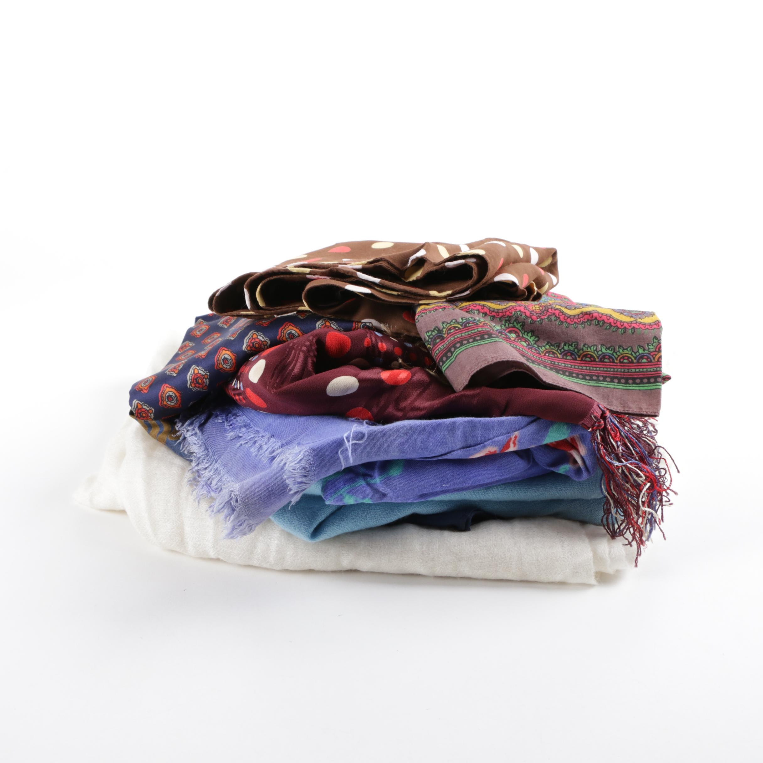 Women's Scarves and Men's Pocket Square Including Triangle and Eric Bompard