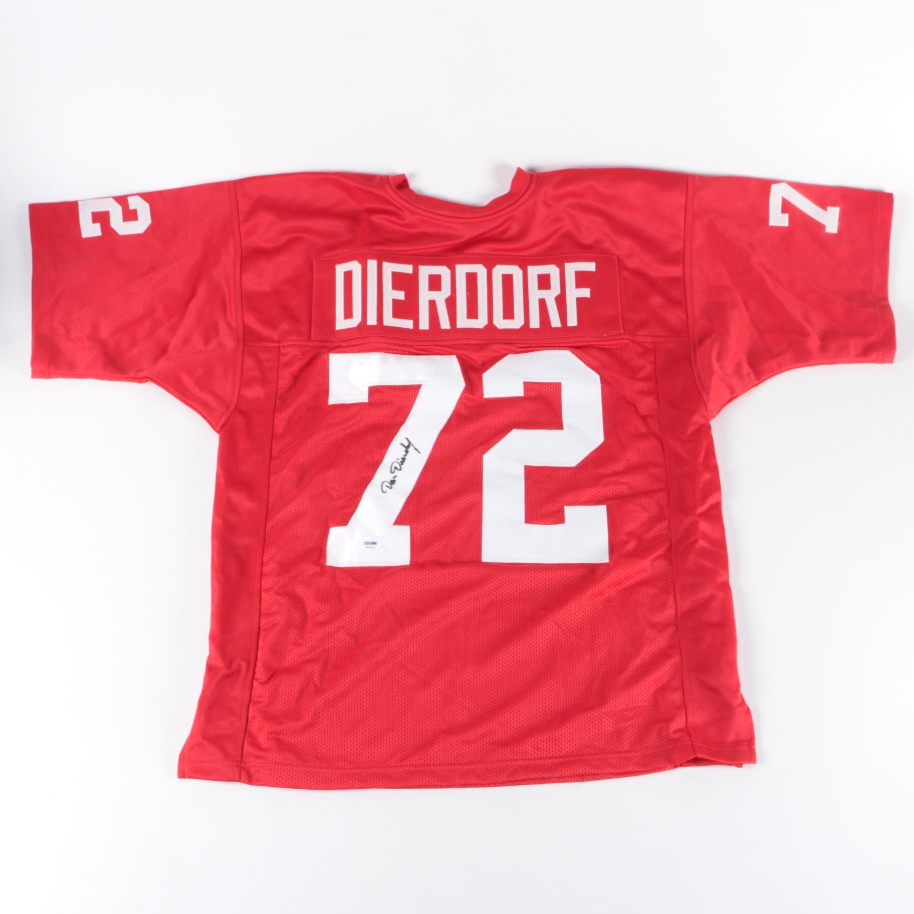 Dan Dierdorf Autographed Jersey