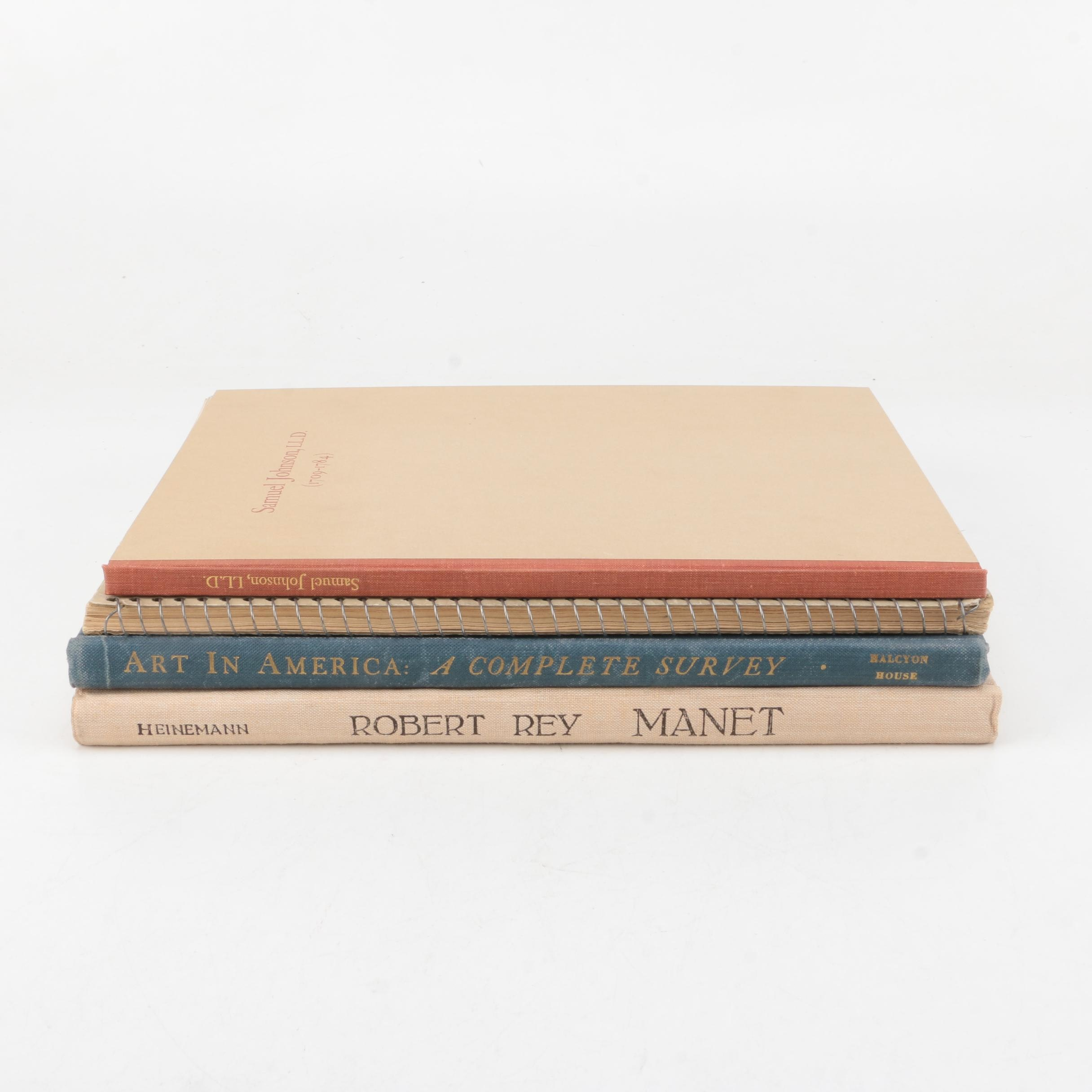 """Vintage Books on Art Including 1938 """"Manet"""""""