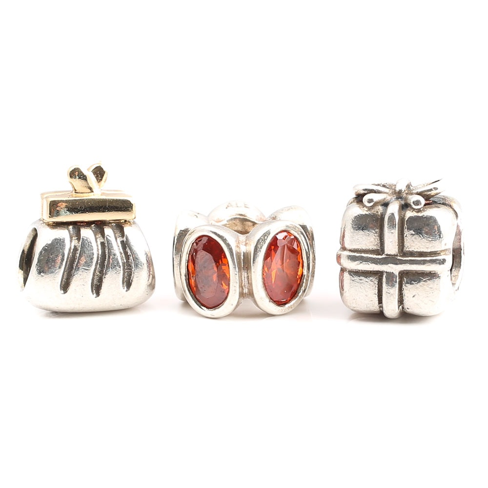 Pandora Sterling Silver Hand-Finished Charms
