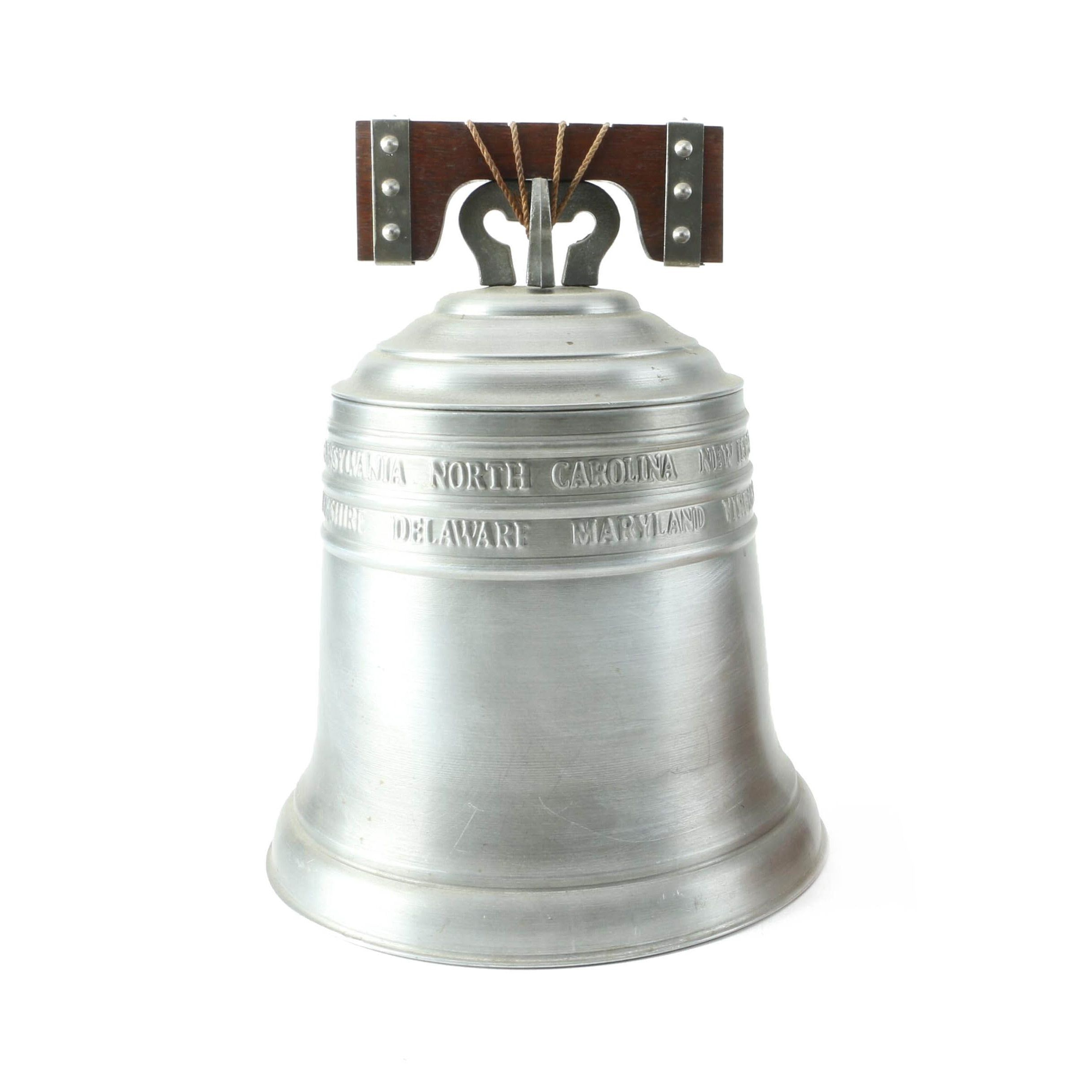 1974 Pewtertone Liberty Bell Ice Bucket