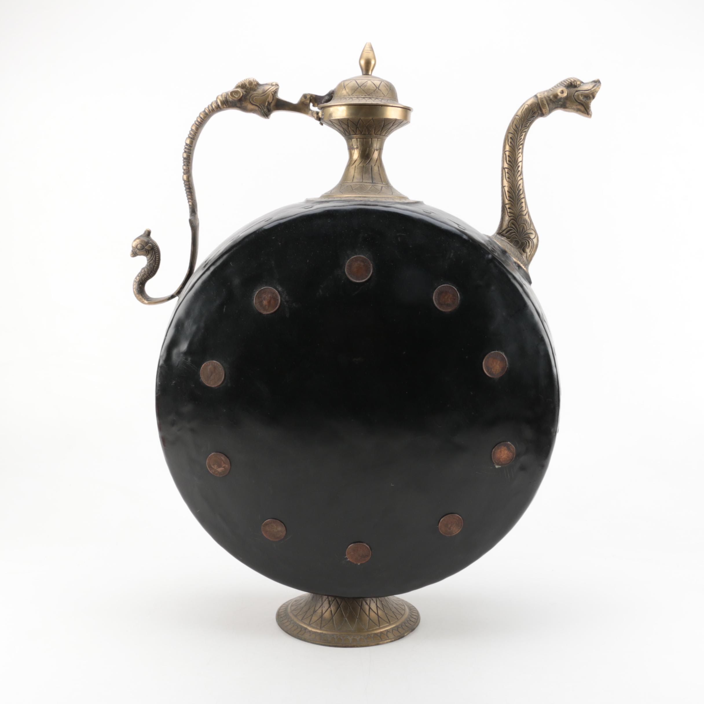 Indian Metal and Brass Vessel