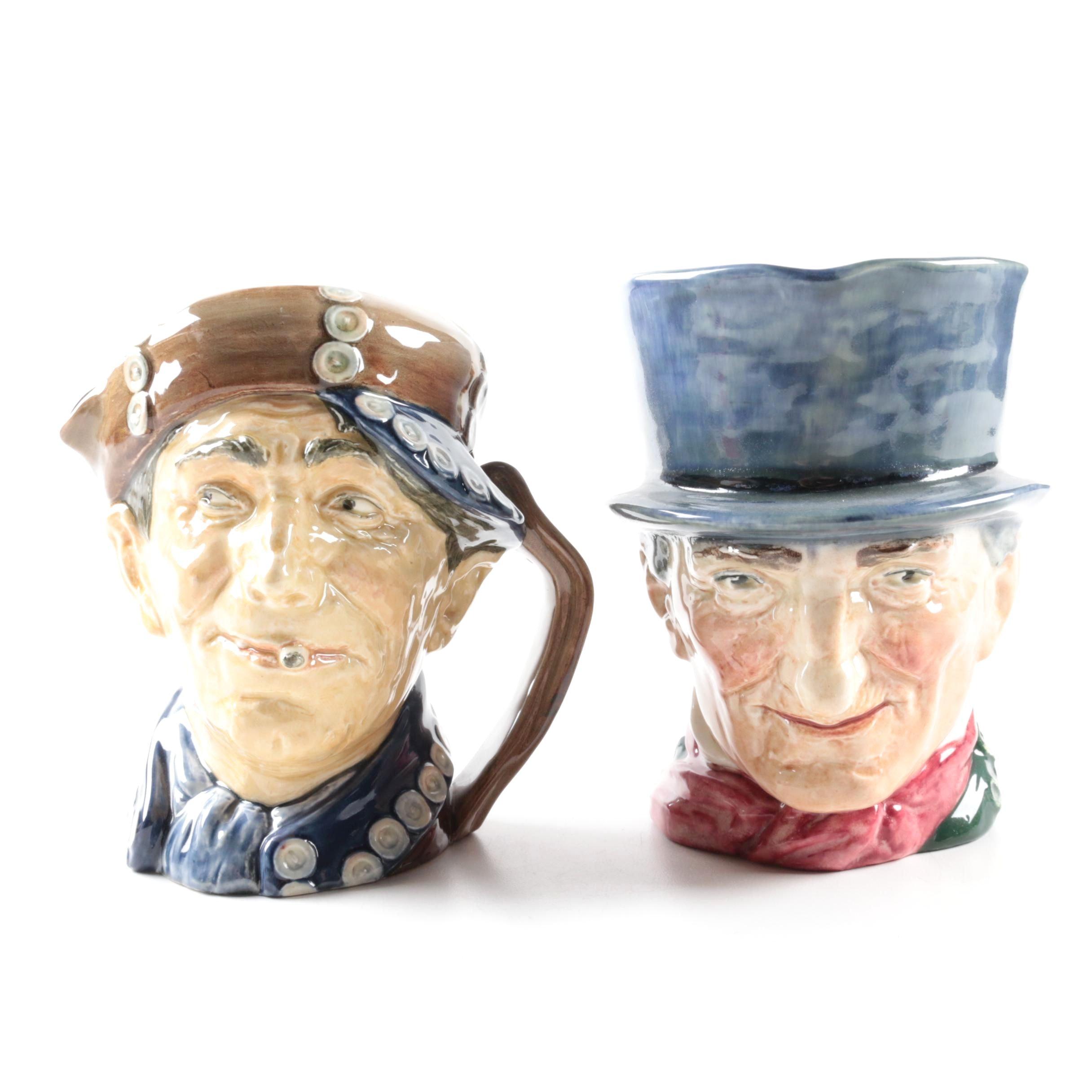 "Vintage Royal Doulton "" 'Arry"" and ""John Peel"" Character Jugs 1939-55"