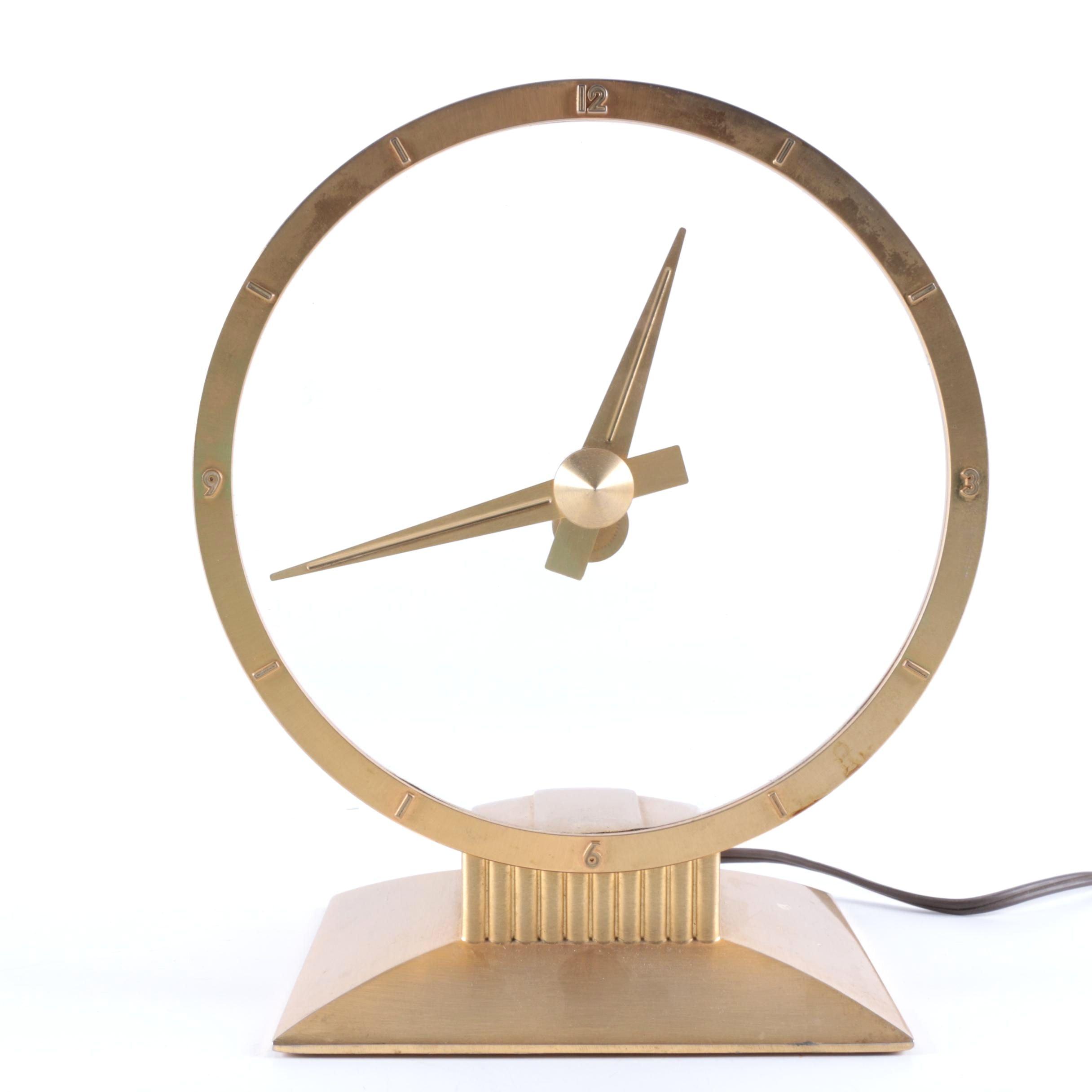 "Mid Century Jefferson ""Golden Hour"" Electric Clock"