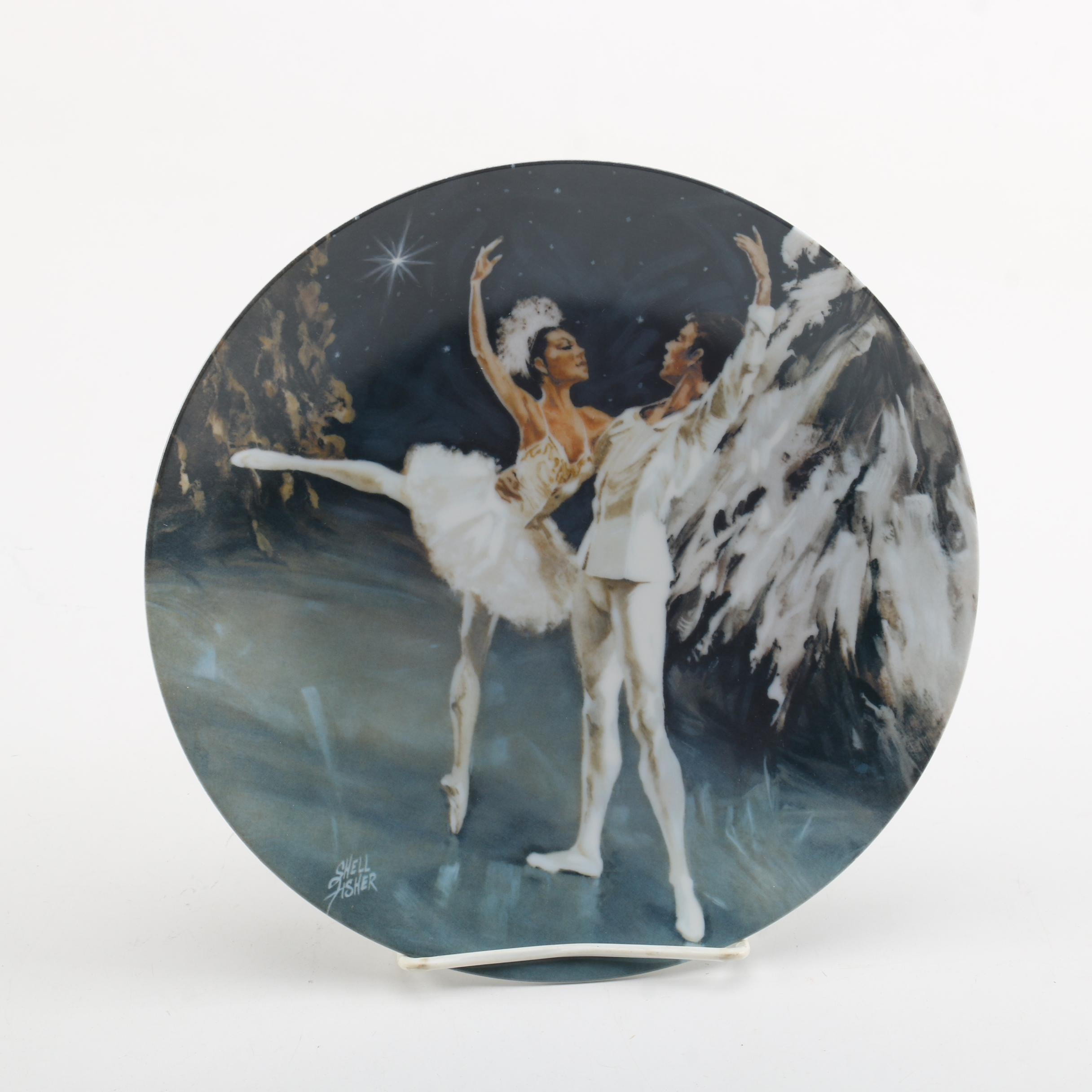 """1979 Shell Fisher """"The Snow King and Queen"""" Collector's Plate"""