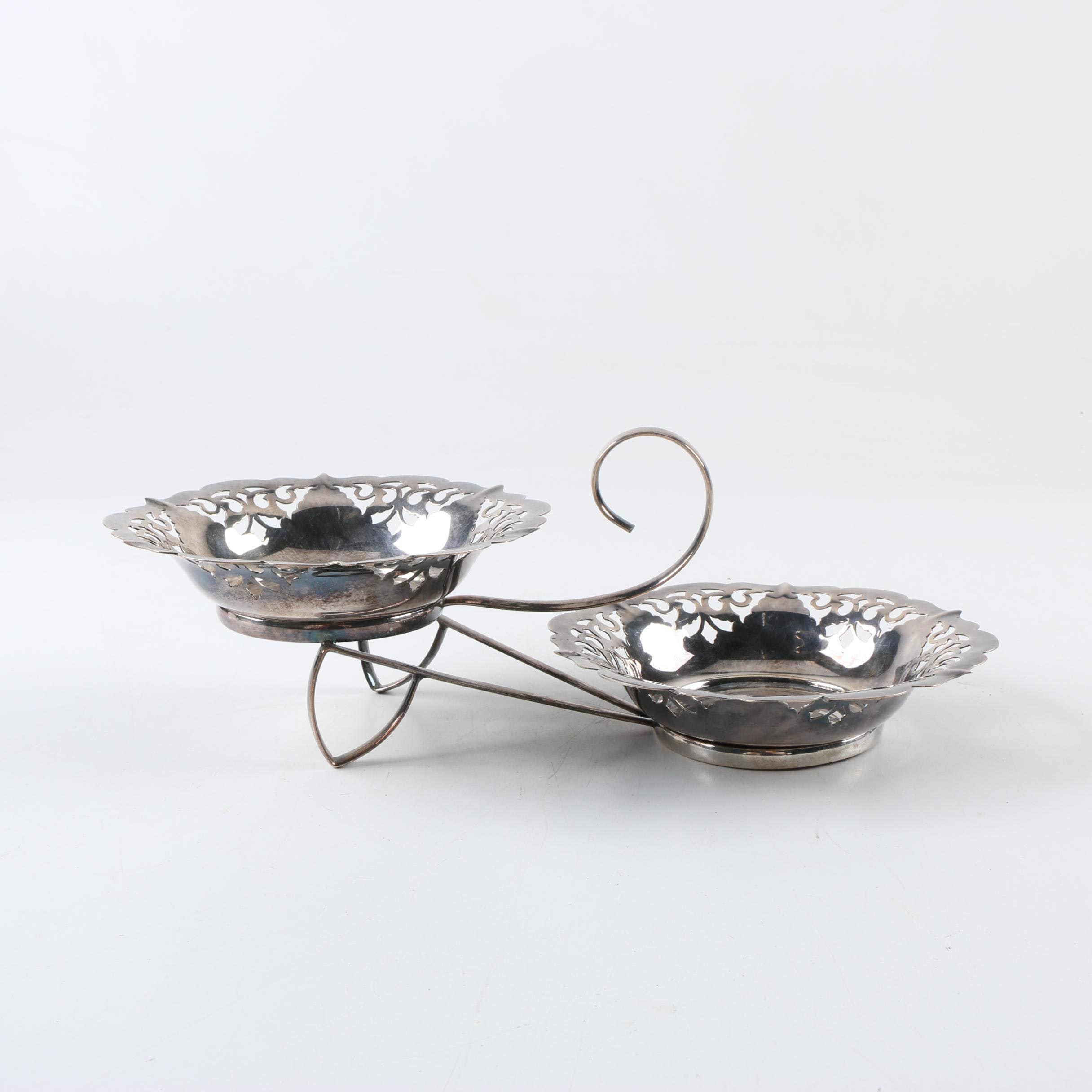 Silver Plate Bowls with Stand