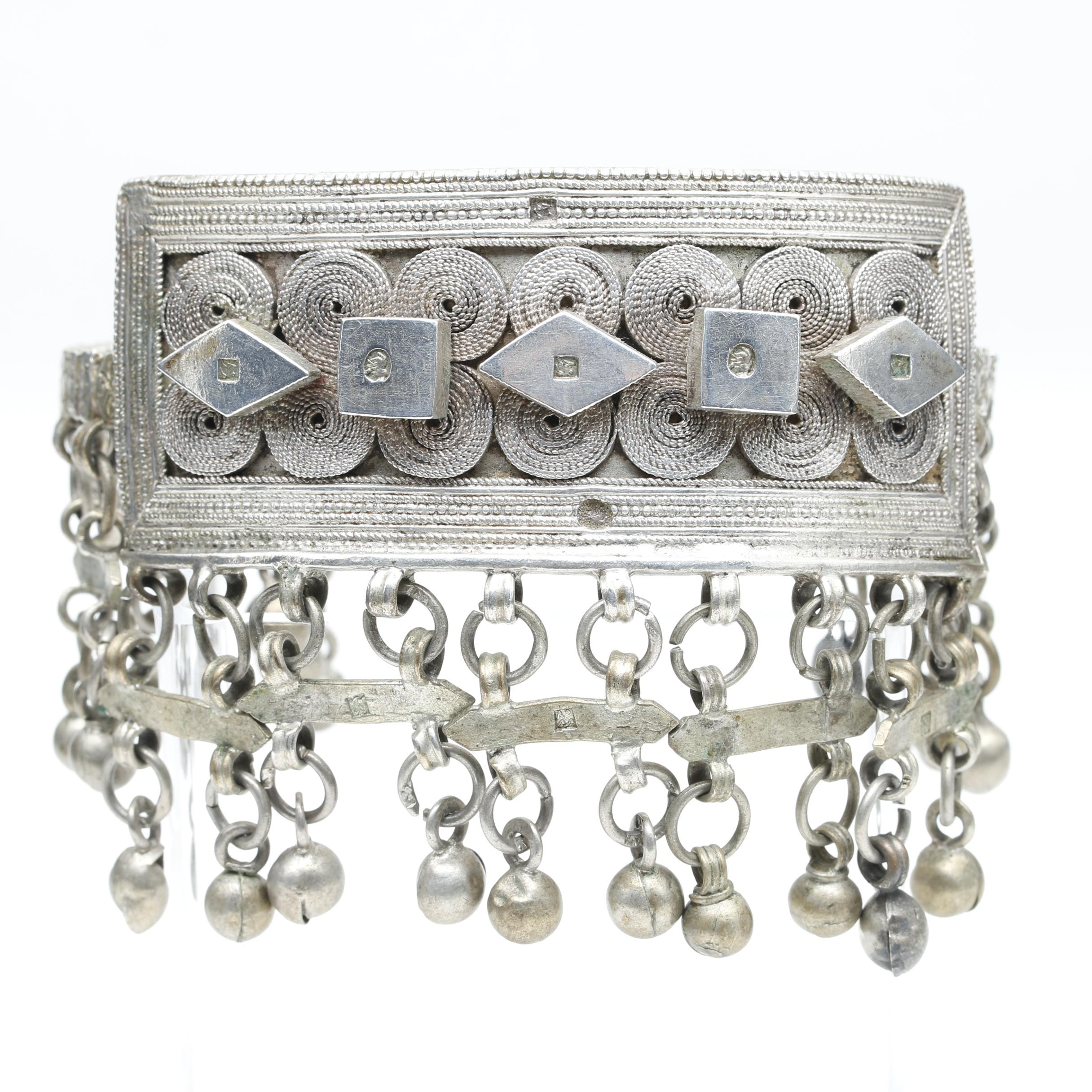 Sterling Silver Bell Arm Cuff