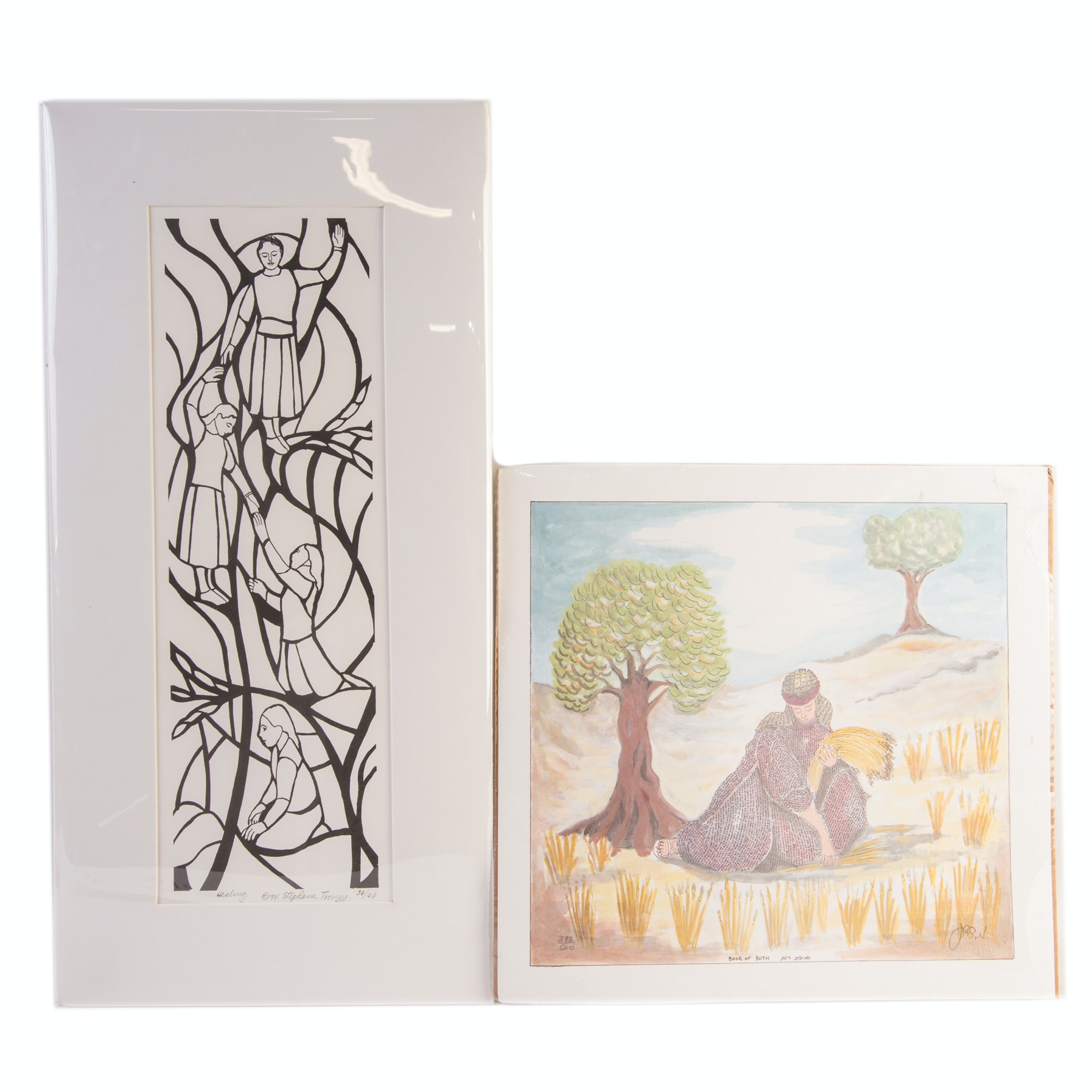 """Limited Edition Offset Lithographs on Paper """"Healing"""", """"Book of Ruth"""""""