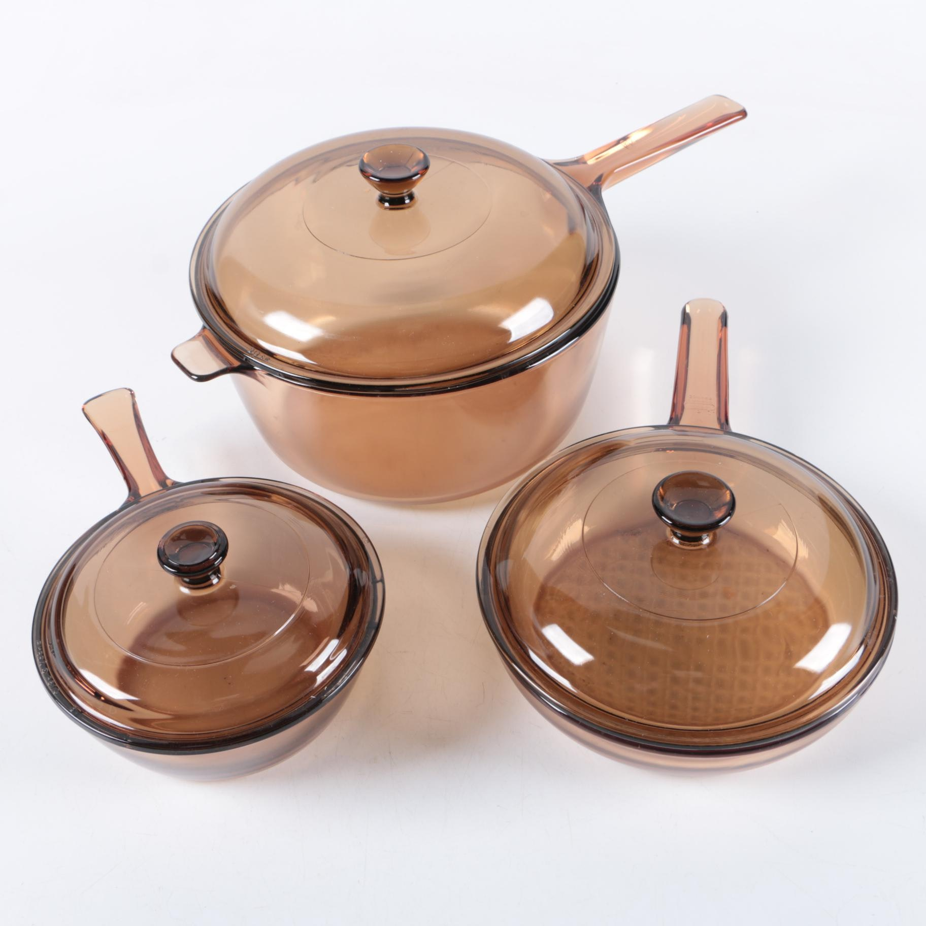 """Corning """"Visions"""" Cookware"""