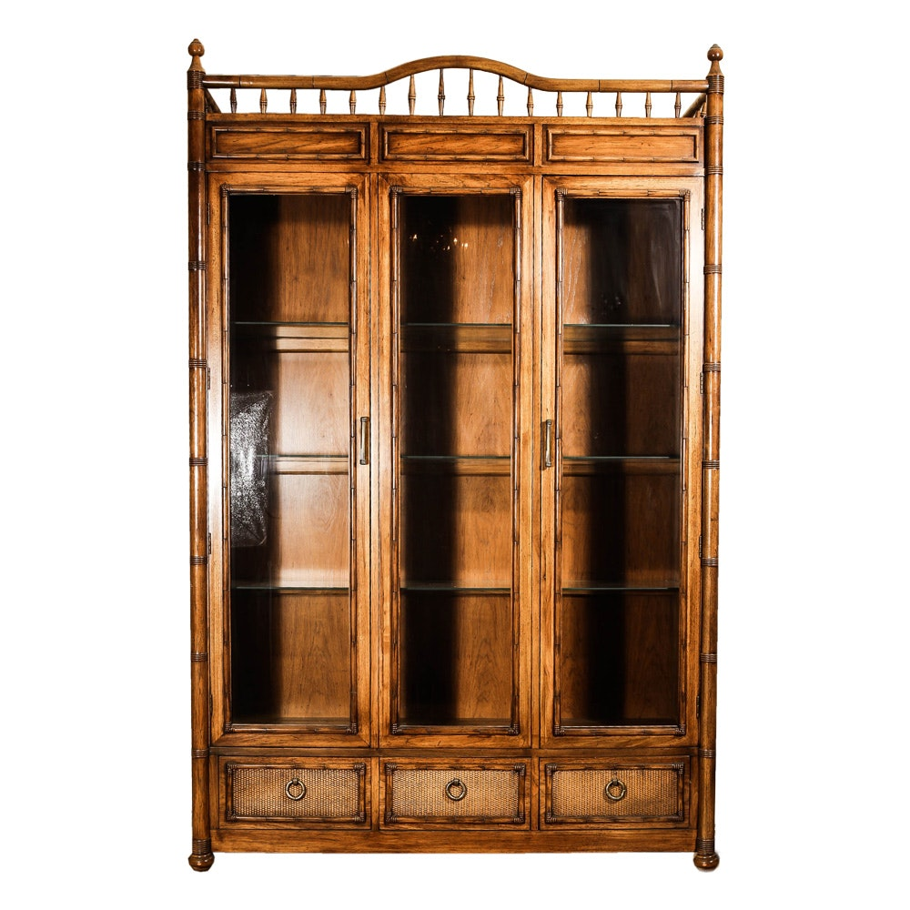 Bamboo Style Display Cabinet by Thomasville