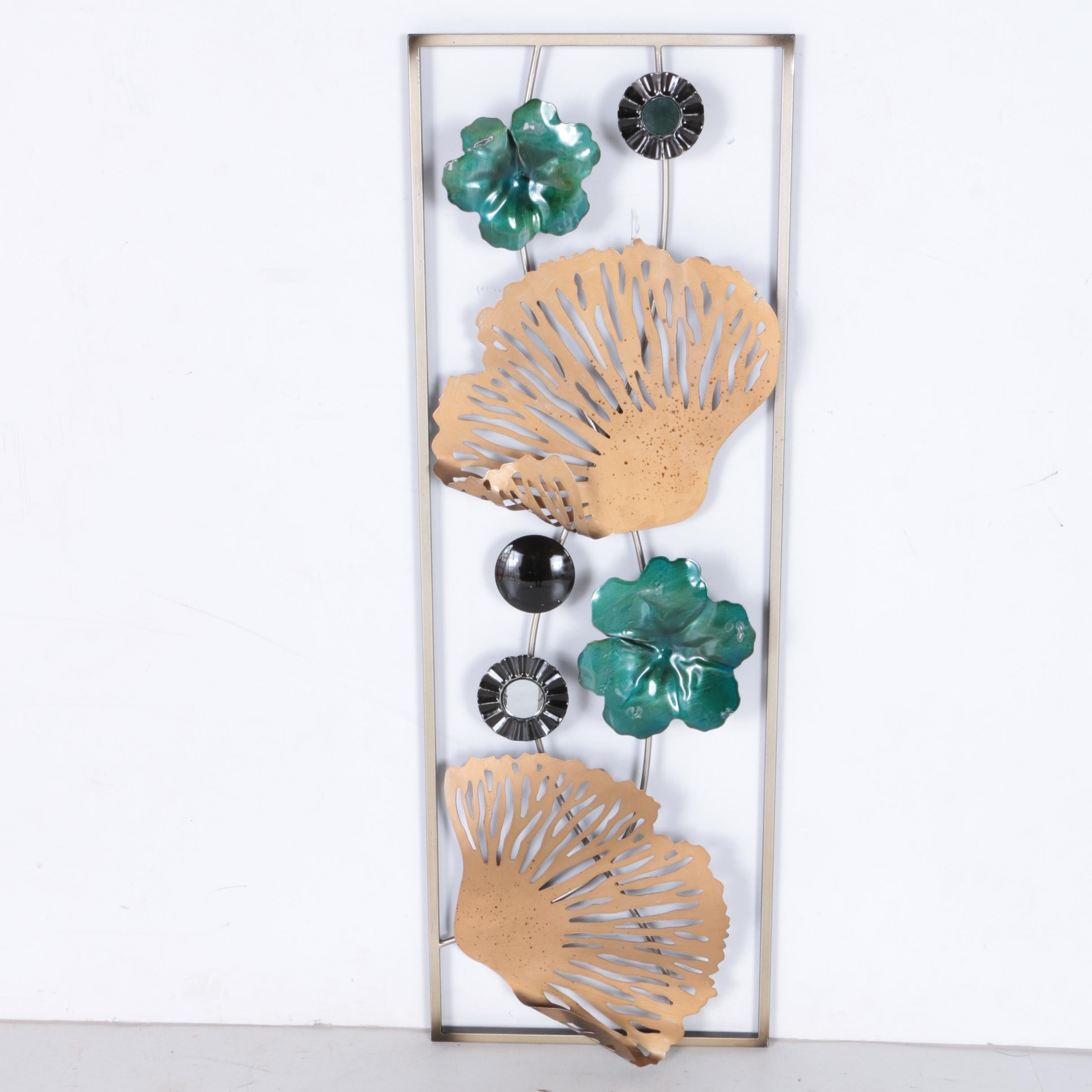 Metal Floral Wall Hanging Panel