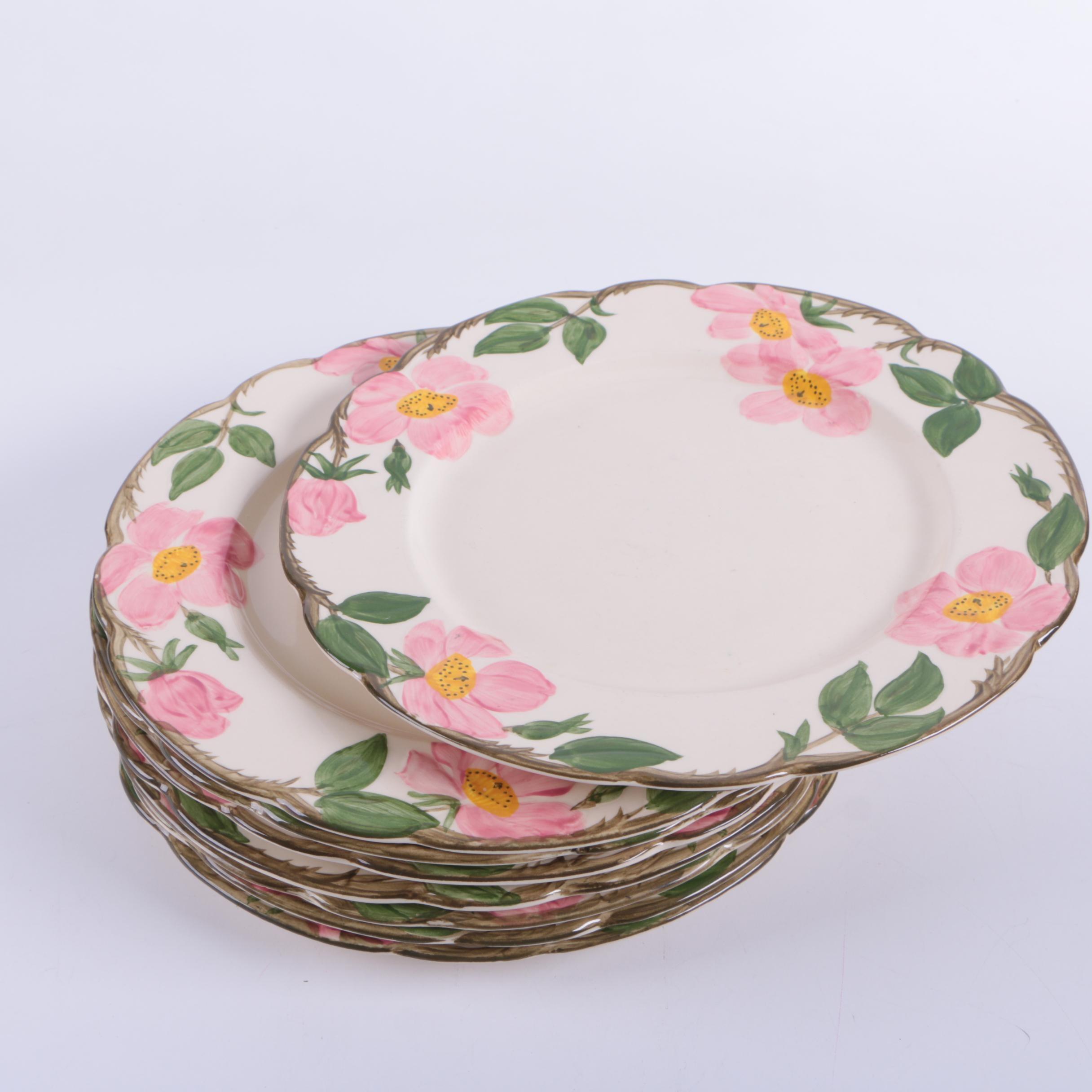 Vintage Franciscan \ Desert Rose\  Earthenware Plates ... & Vintage Franciscan \