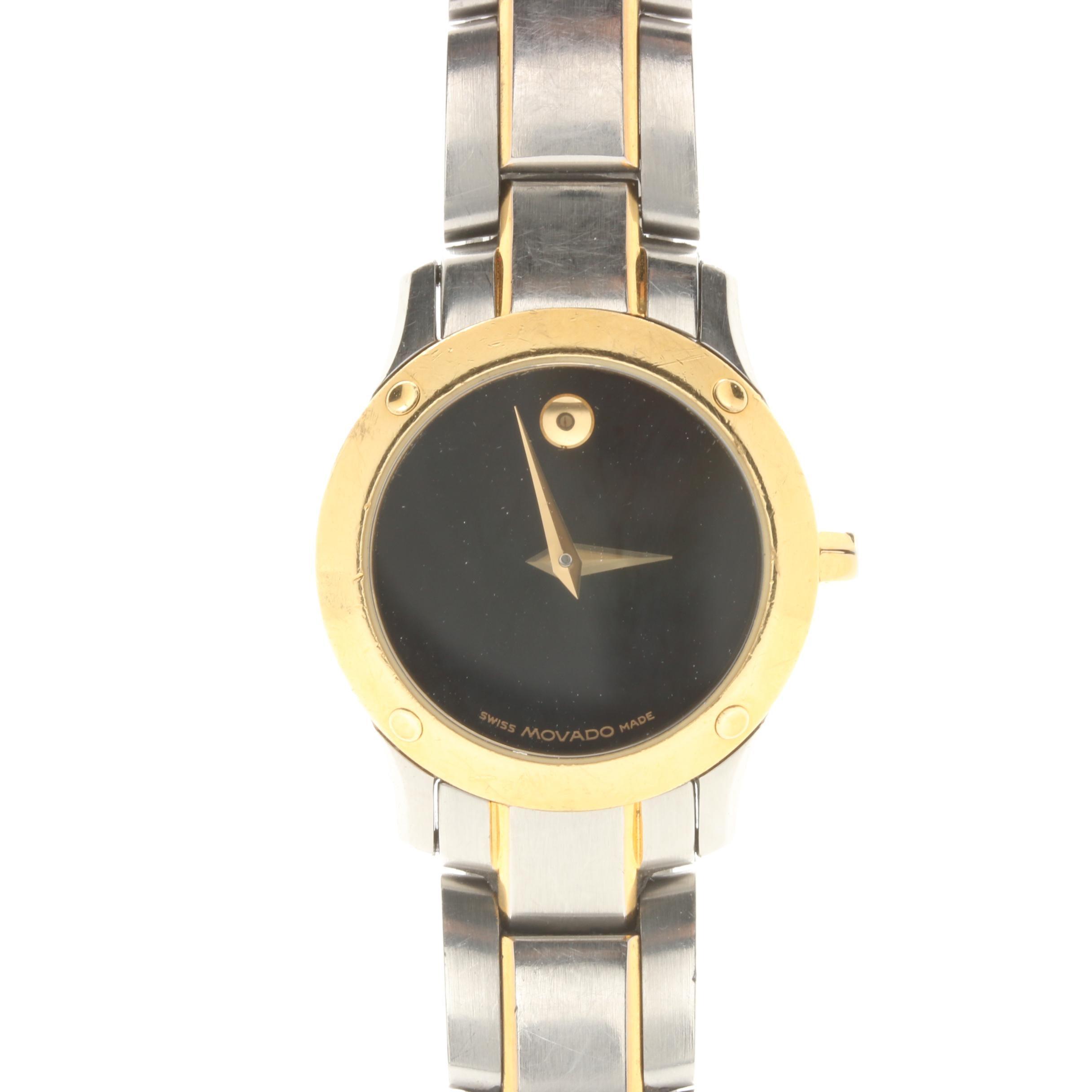 Movado Museum Two Tone Wristwatch