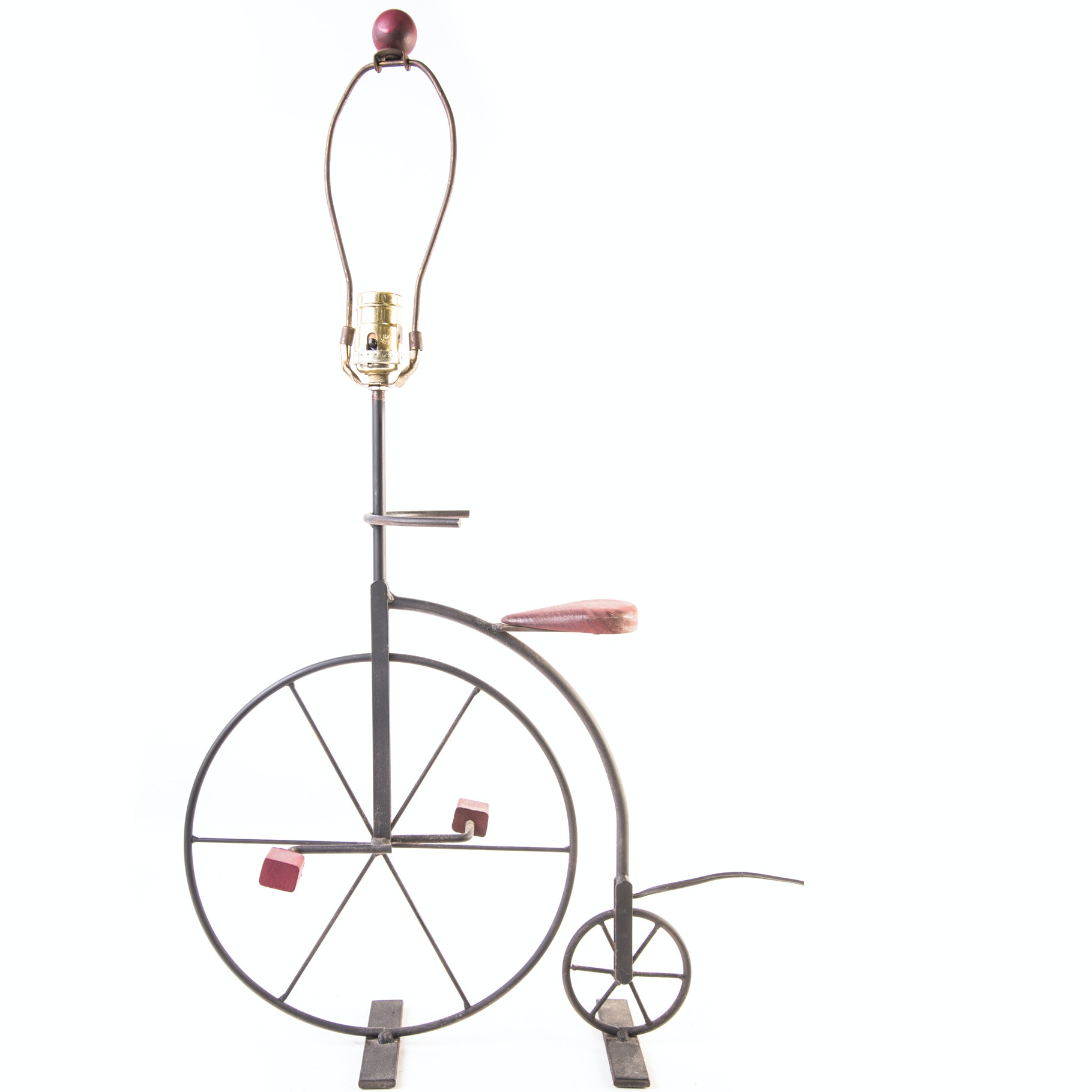 Penny Farthing Figural Lamp