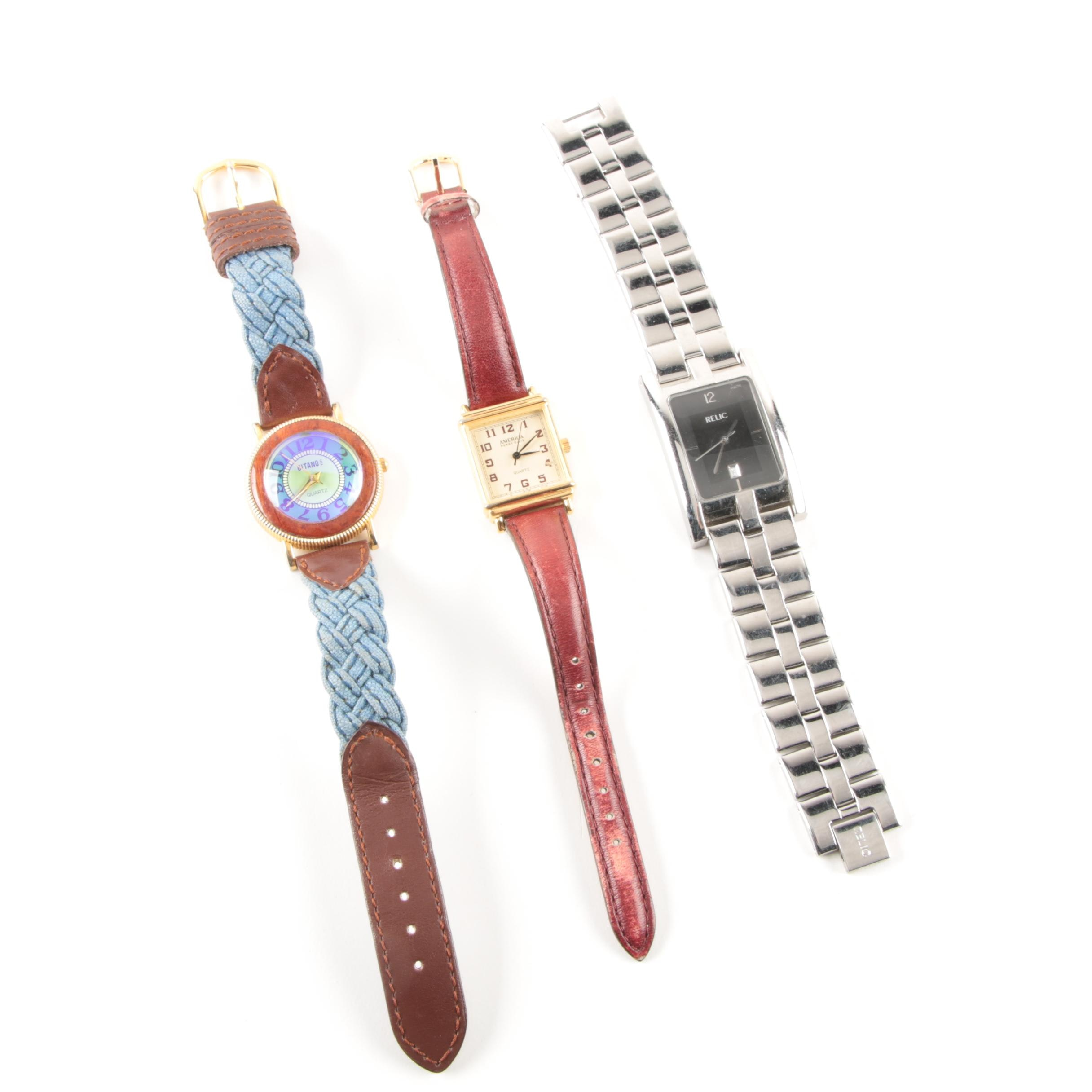 Selection of Three Wristwatches Including Gitano