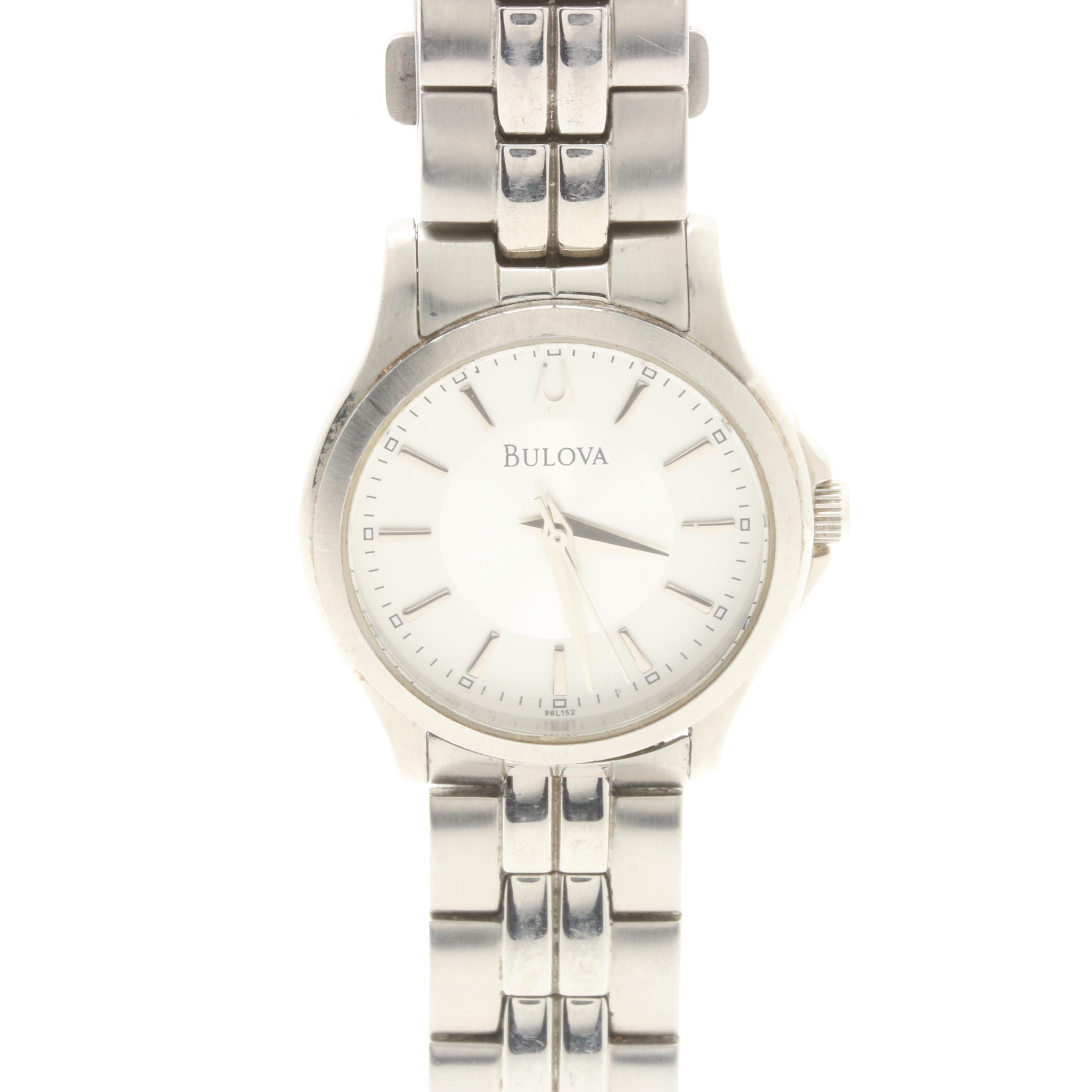 Bulova Silver-Tone Wristwatch