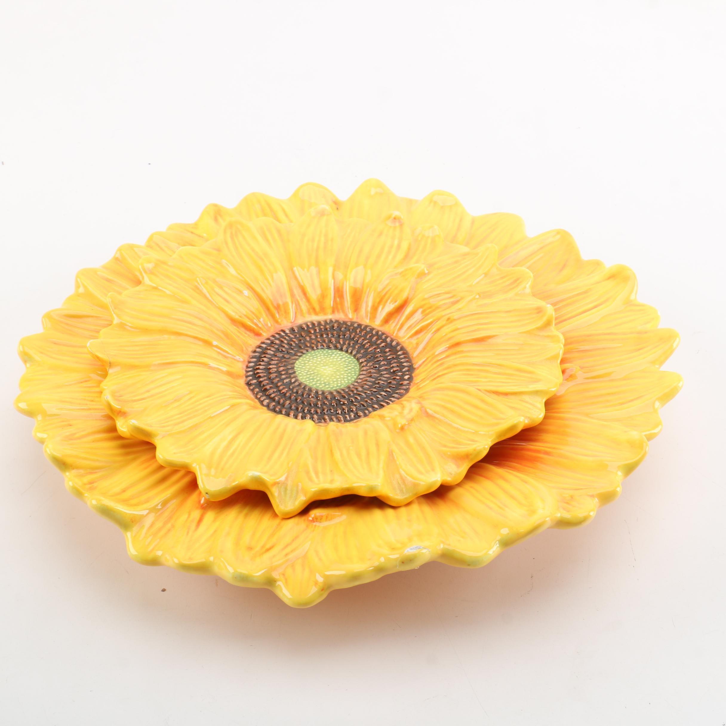 Figi Sunflower Serving Platters