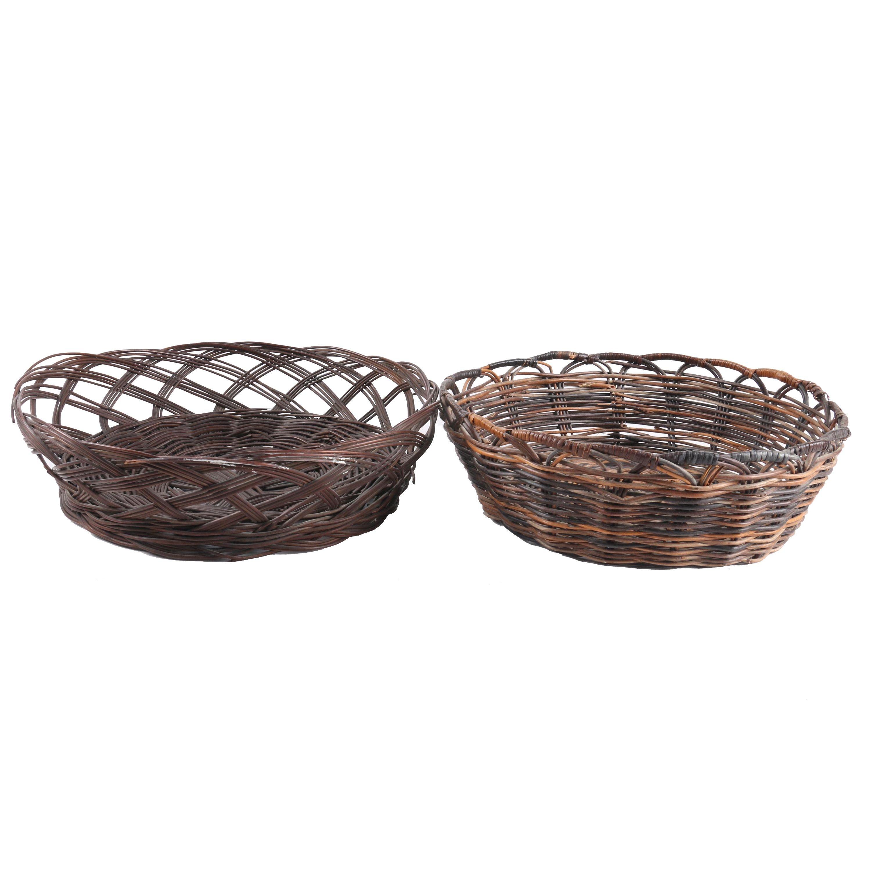 Victorian Wicker Yarn Baskets