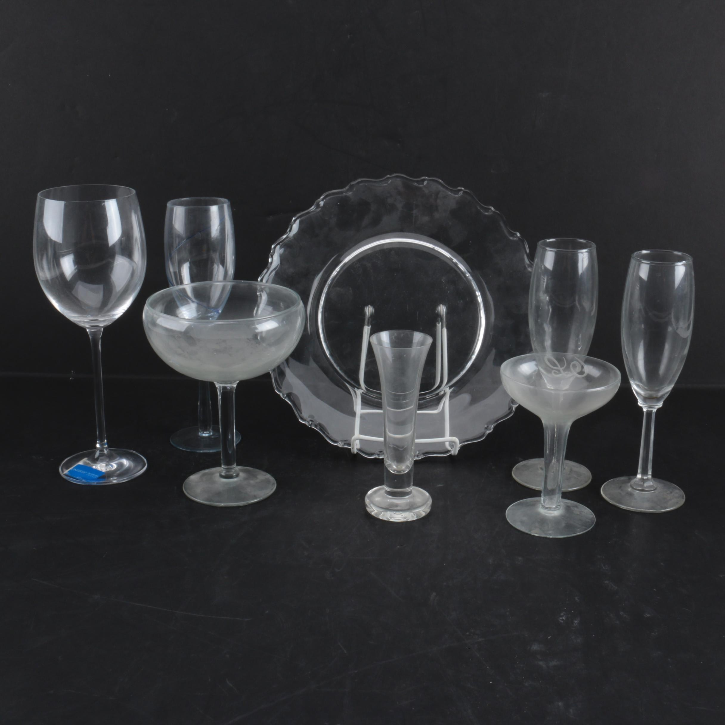 Glass and Crystal Stemware Including Oneida